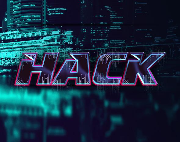 8款科幻未来赛博朋克特效立体字PS样式模板 Cyberpunk Text Effects插图(6)