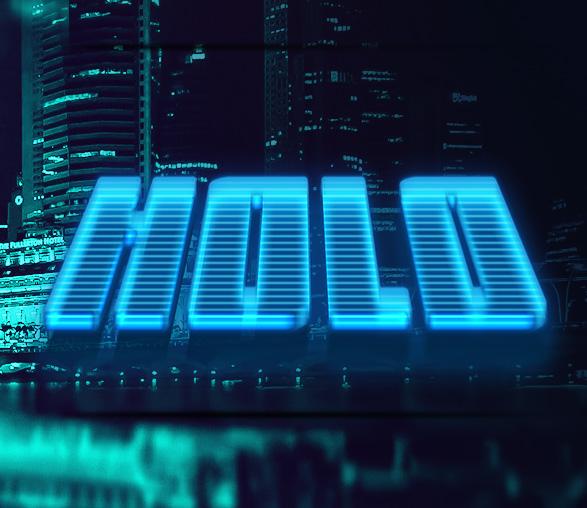 8款科幻未来赛博朋克特效立体字PS样式模板 Cyberpunk Text Effects插图(7)