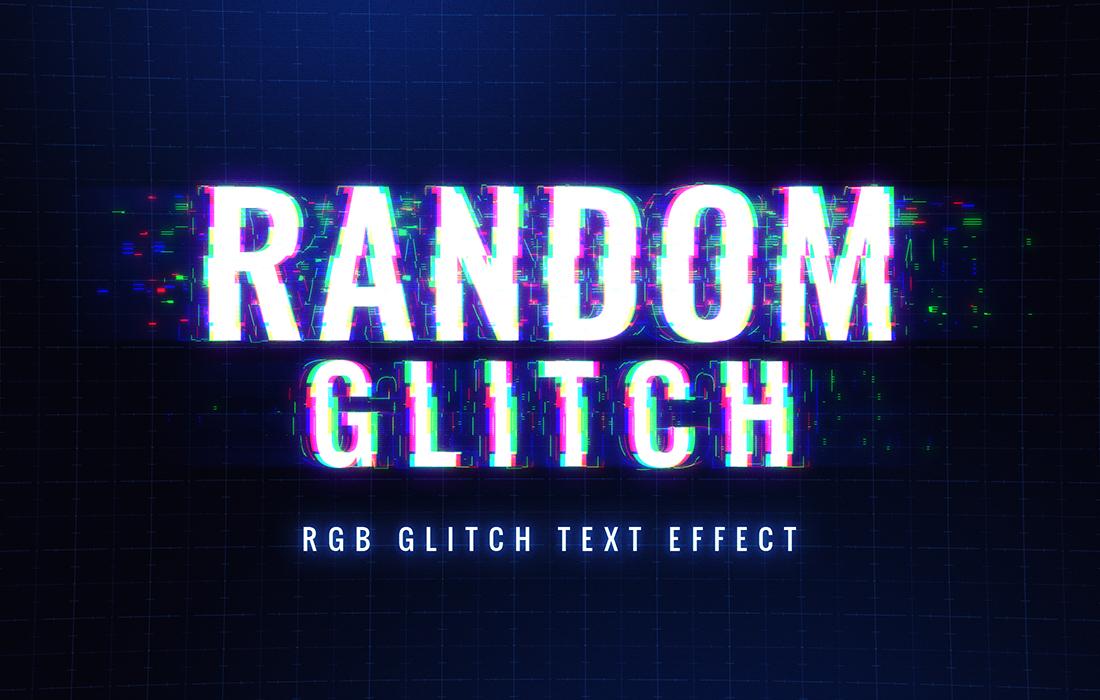 8款抽象扭曲故障风效果标题字体PS样式模板源文件 Glitch Text Effect插图(3)