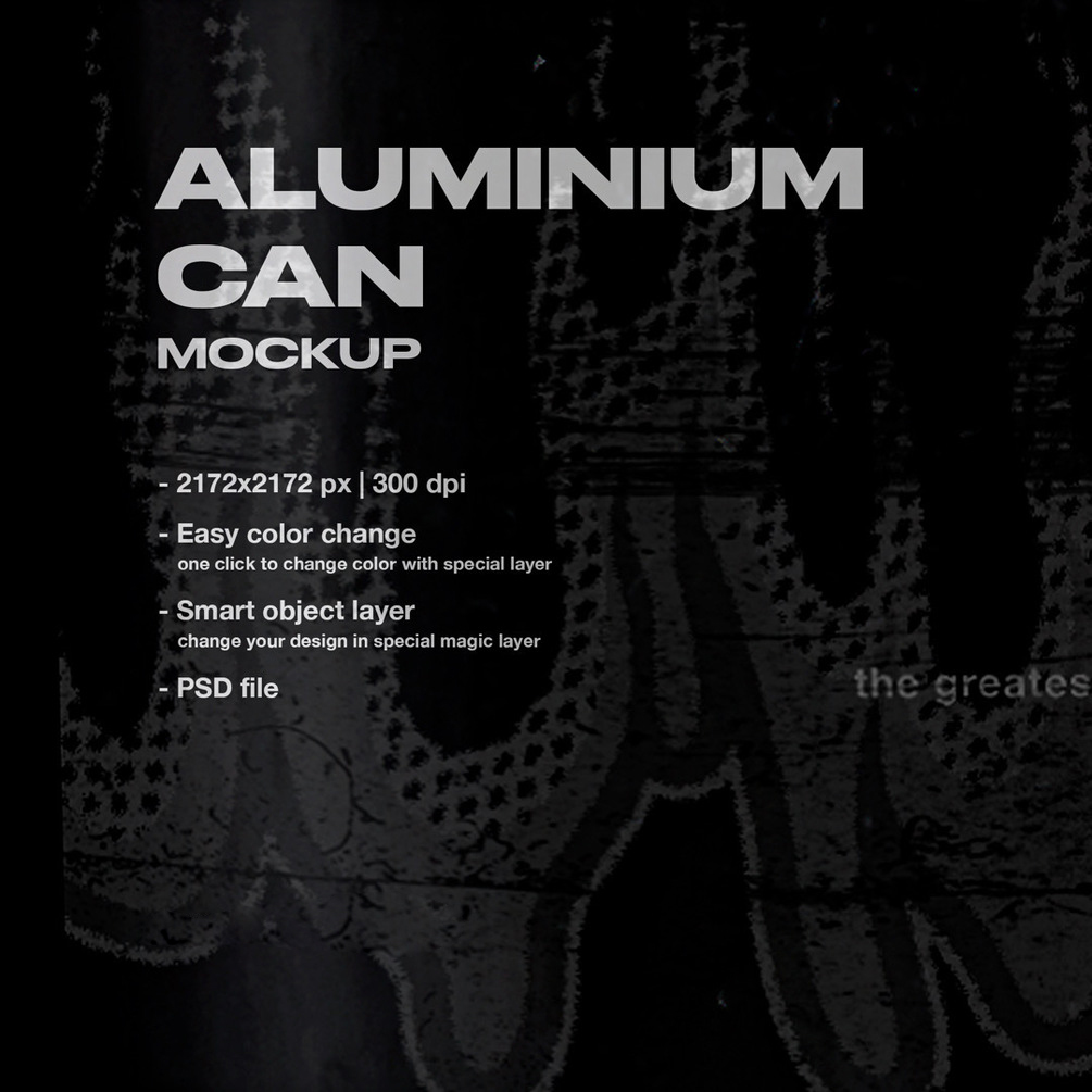 [淘宝购买] 潮流做旧复古铝罐包装纸设计展示样机 Aluminium Can Mockup插图(1)