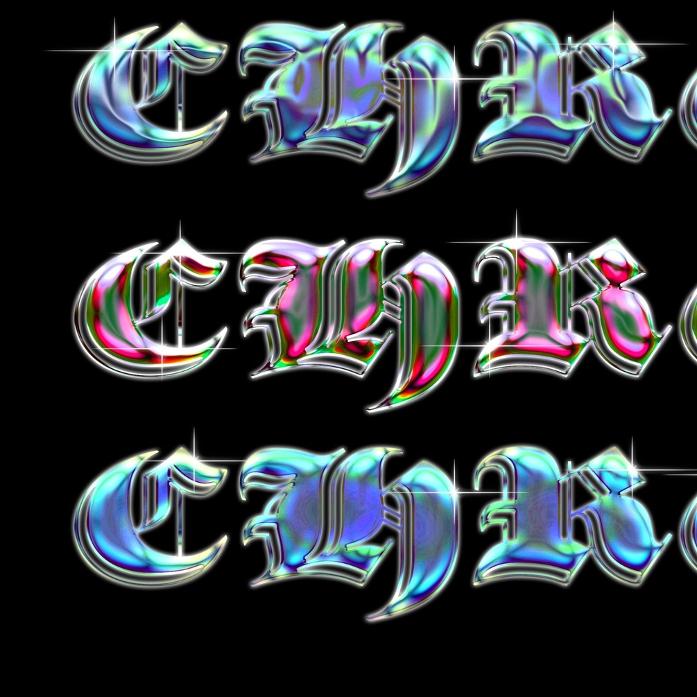 [淘宝购买] 6种全息渐变圆润立体金属标题字体设计PS样式模板 Chrome Template 08插图(3)