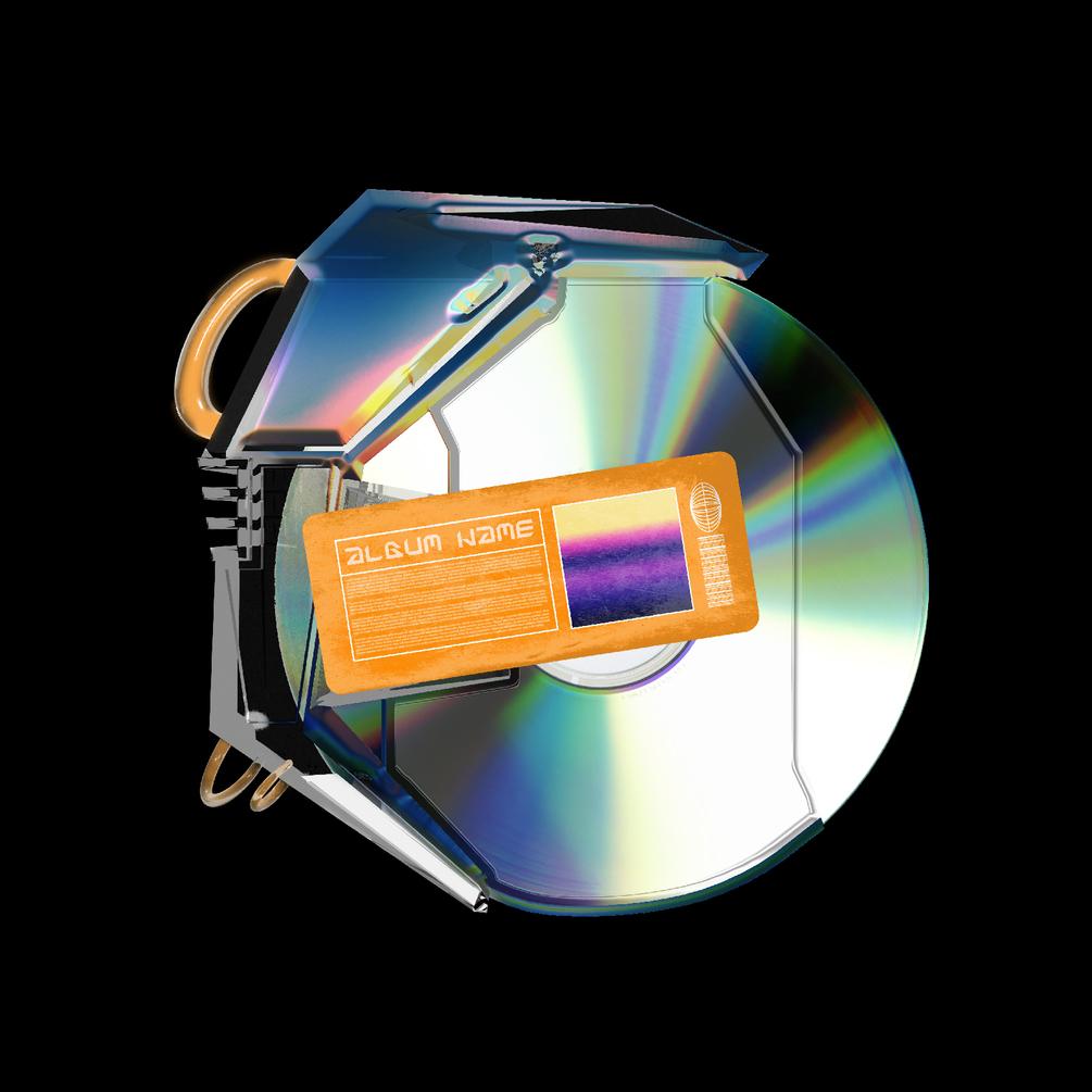 [已解锁精品素材] 潮流CD光盘贴纸设计展示样机模板 CD Case Mockup插图1