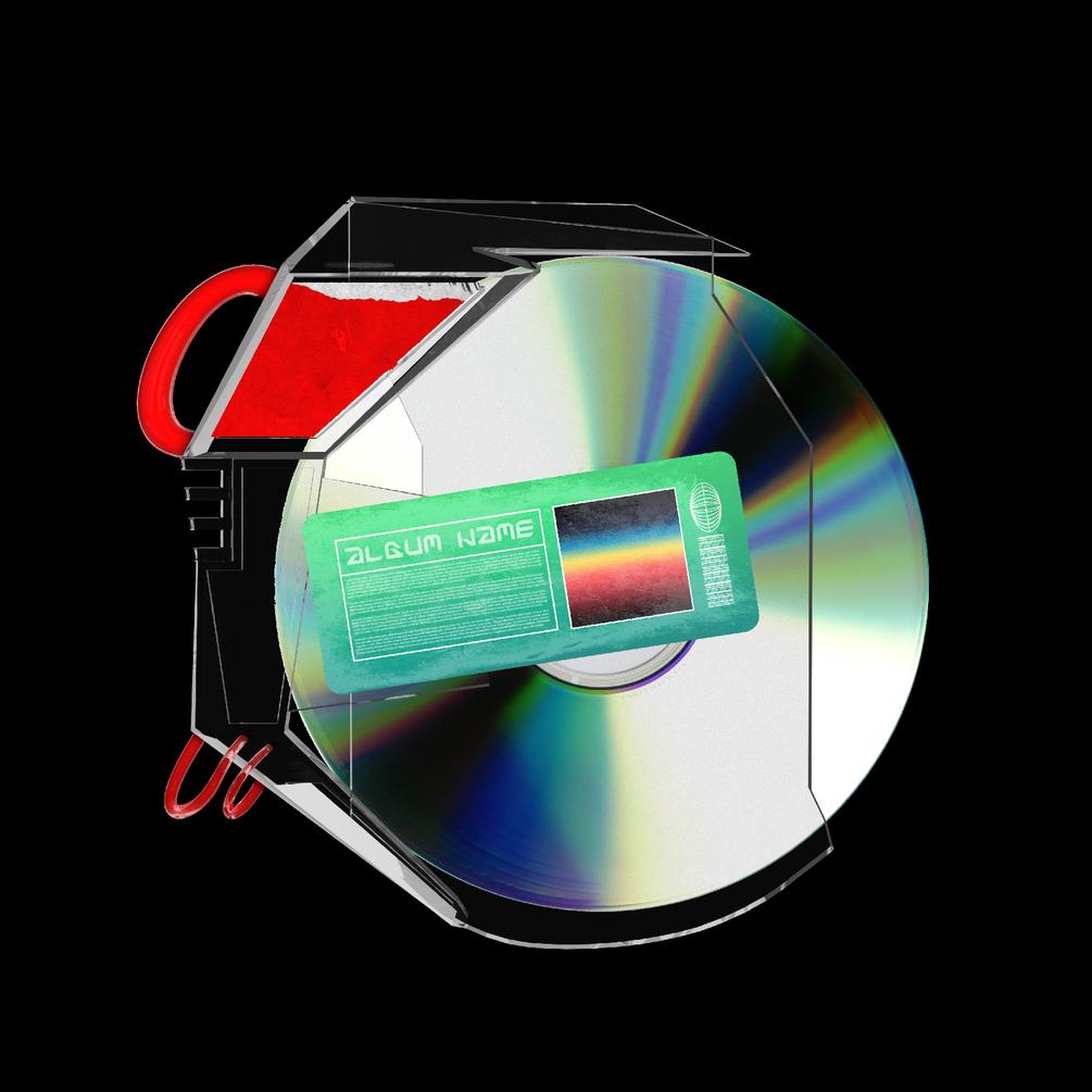[已解锁精品素材] 潮流CD光盘贴纸设计展示样机模板 CD Case Mockup插图2