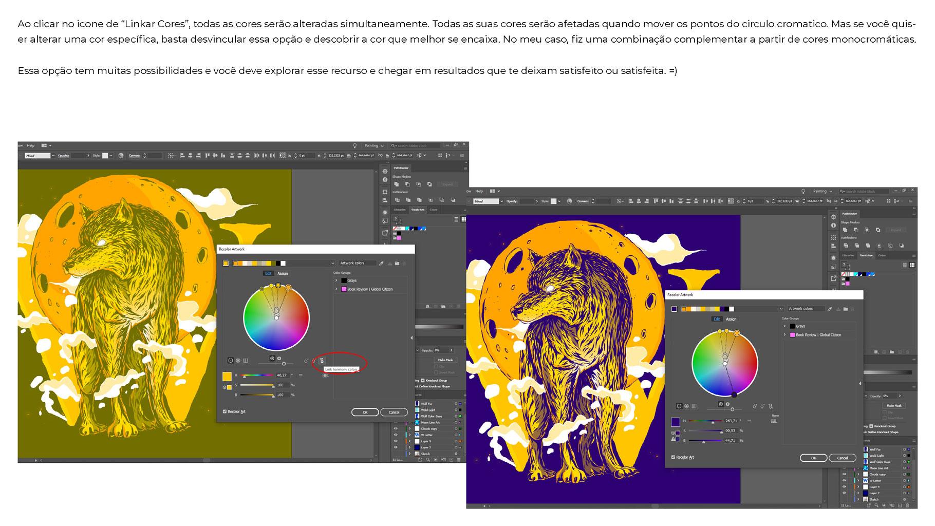 [淘宝购买] 300款色彩亮丽蒸汽波风动画绘画色板色轮模板素材 300 Color Swatches For Adobe Illustrator & Adobe Photoshop插图(32)