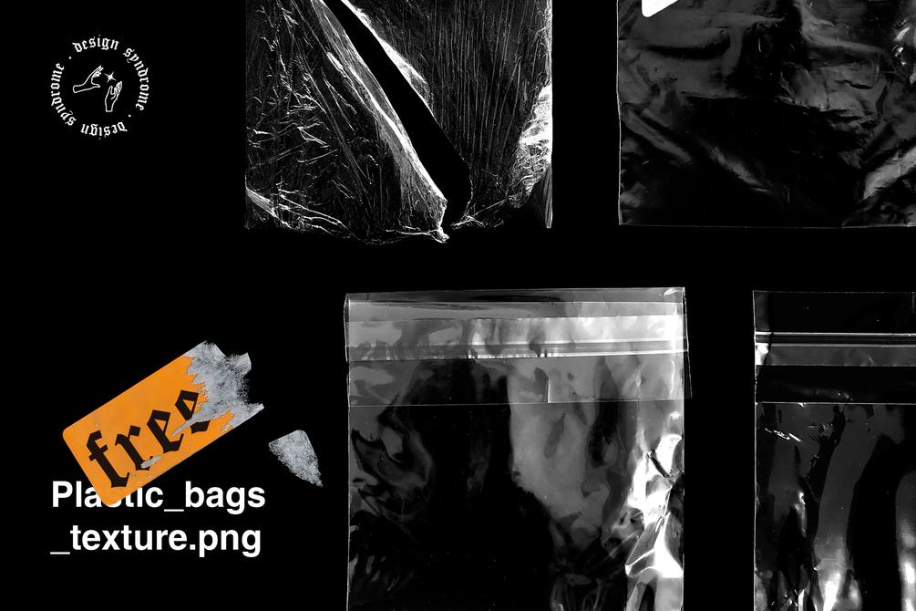 5款高清透明塑料包装袋PNG免抠图片素材 Plastic Bags Textures插图