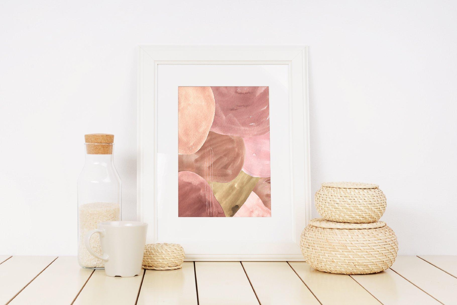 现代抽象水彩手绘植物花卉图案插画PNG免扣图片素材 Abstract Modern Watercolor Bundle插图(11)