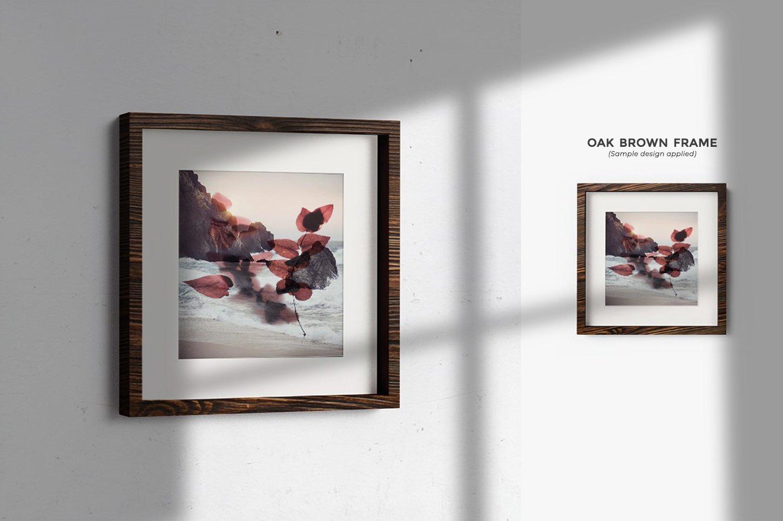 多规格木质画框绘画海报设计智能贴图展示样机PS素材 Frame Mockup Kit插图(12)