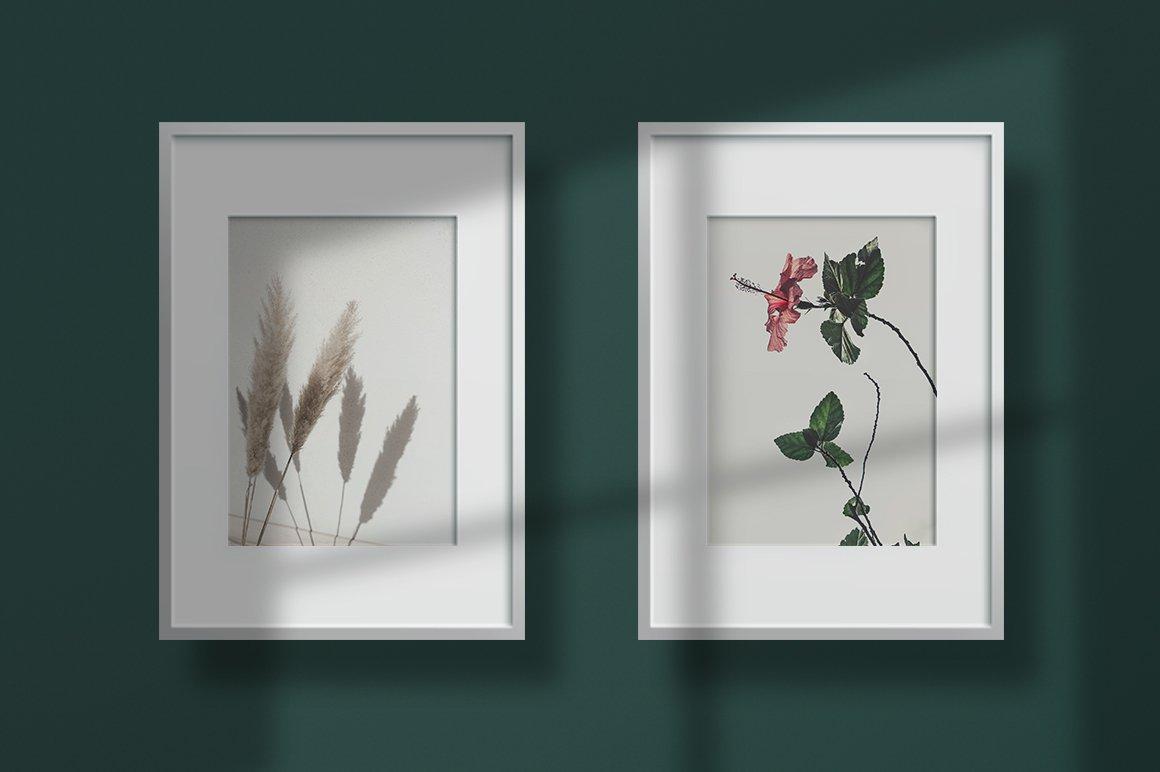 多规格木质画框绘画海报设计智能贴图展示样机PS素材 Frame Mockup Kit插图(4)