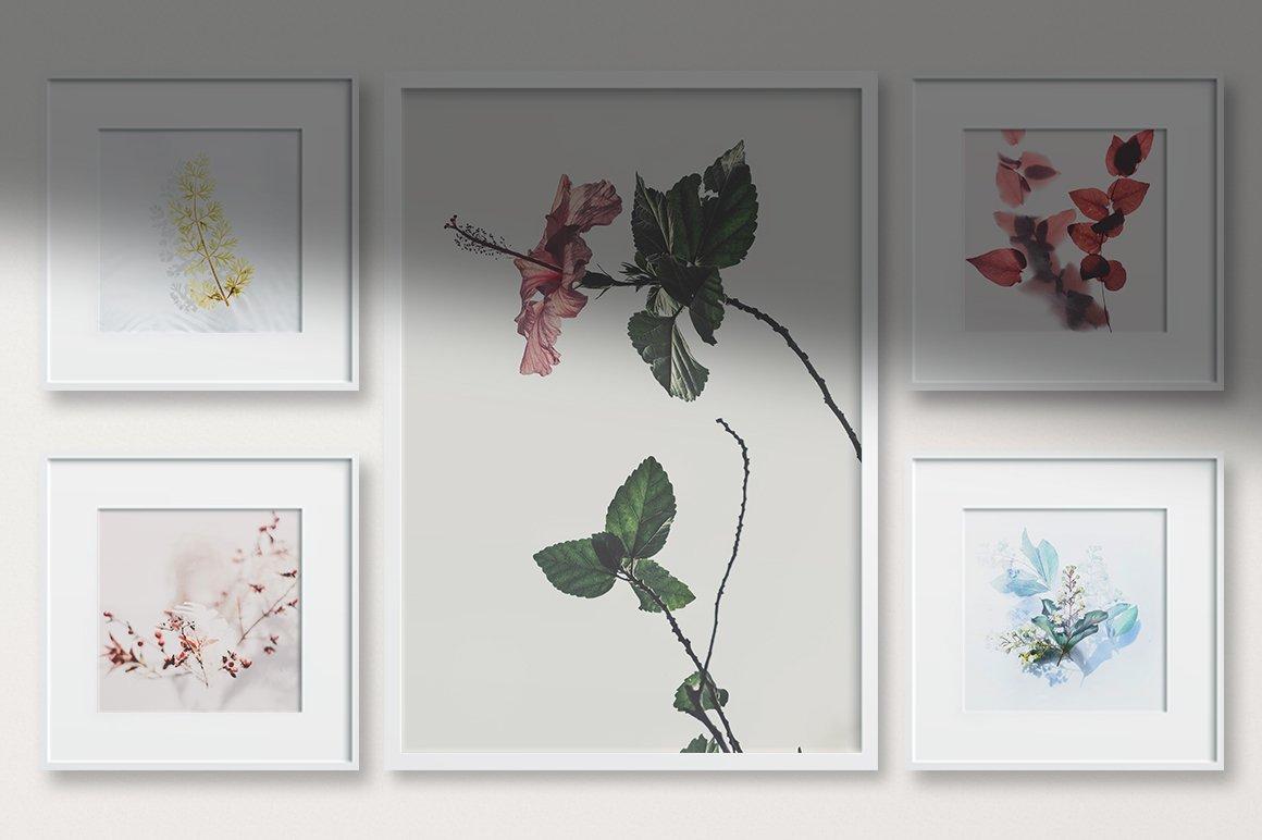多规格木质画框绘画海报设计智能贴图展示样机PS素材 Frame Mockup Kit插图(9)