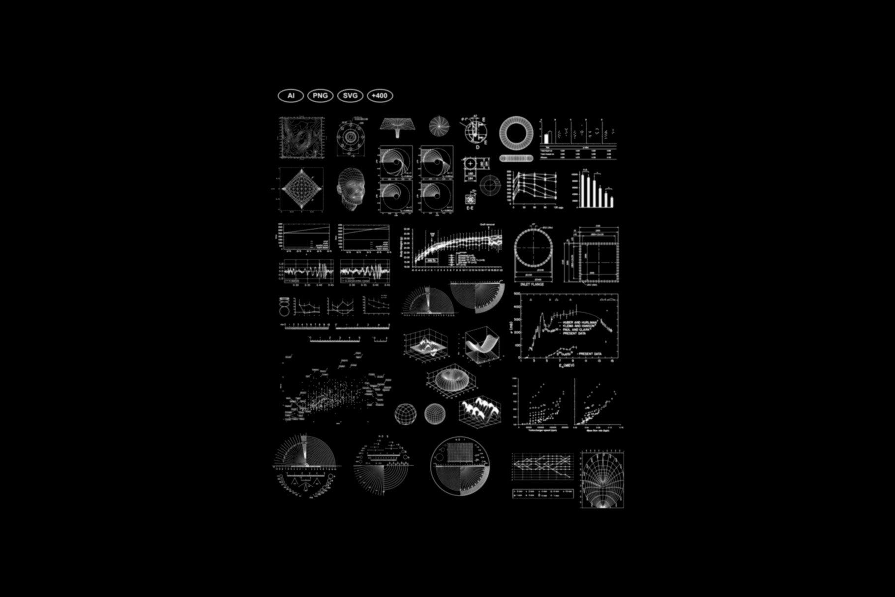 [淘宝购买]400多个潮流抽象曼荼罗警示警戒几何图标AI矢量图形素材 Vektor Icon Pack插图(4)