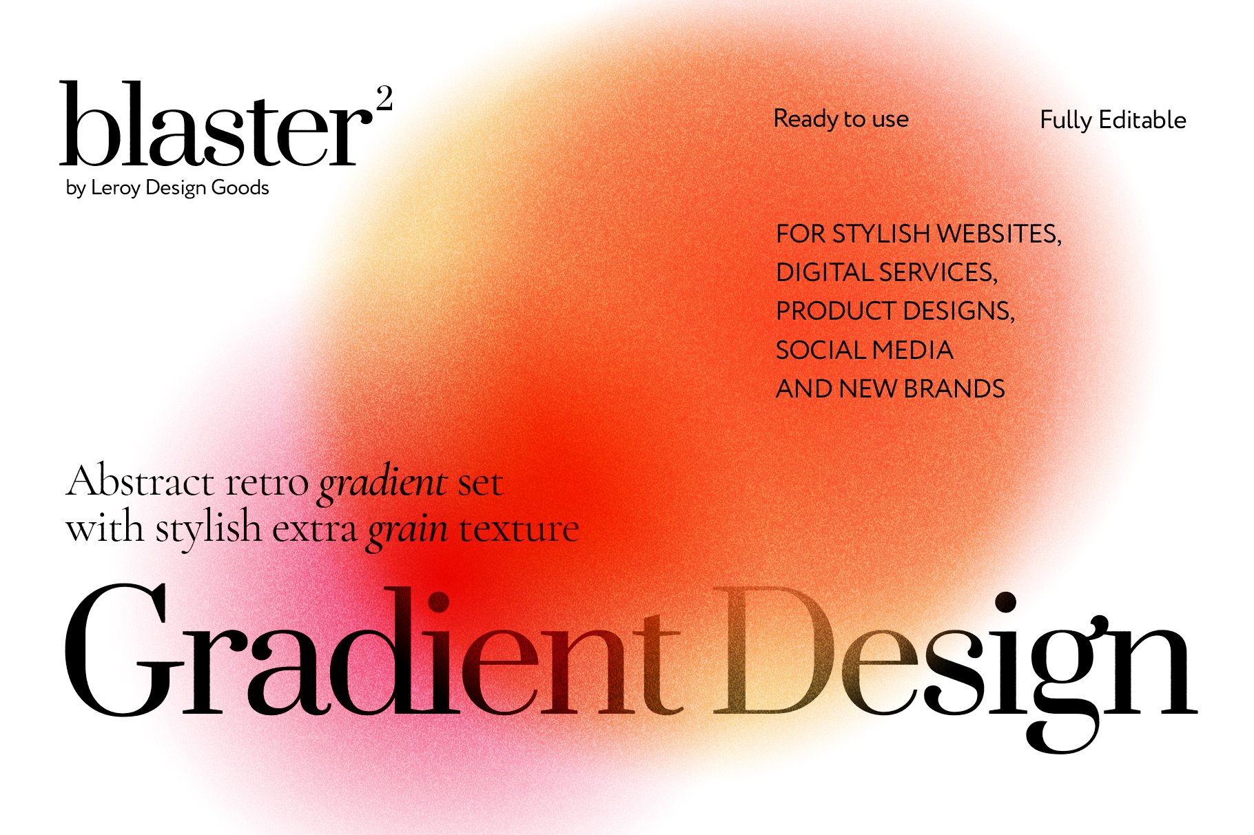 [淘宝购买] 12款炫彩复古模糊渐变海报背景底纹PS分层素材源文件 BLASTER Retro Gradient Textures插图(1)