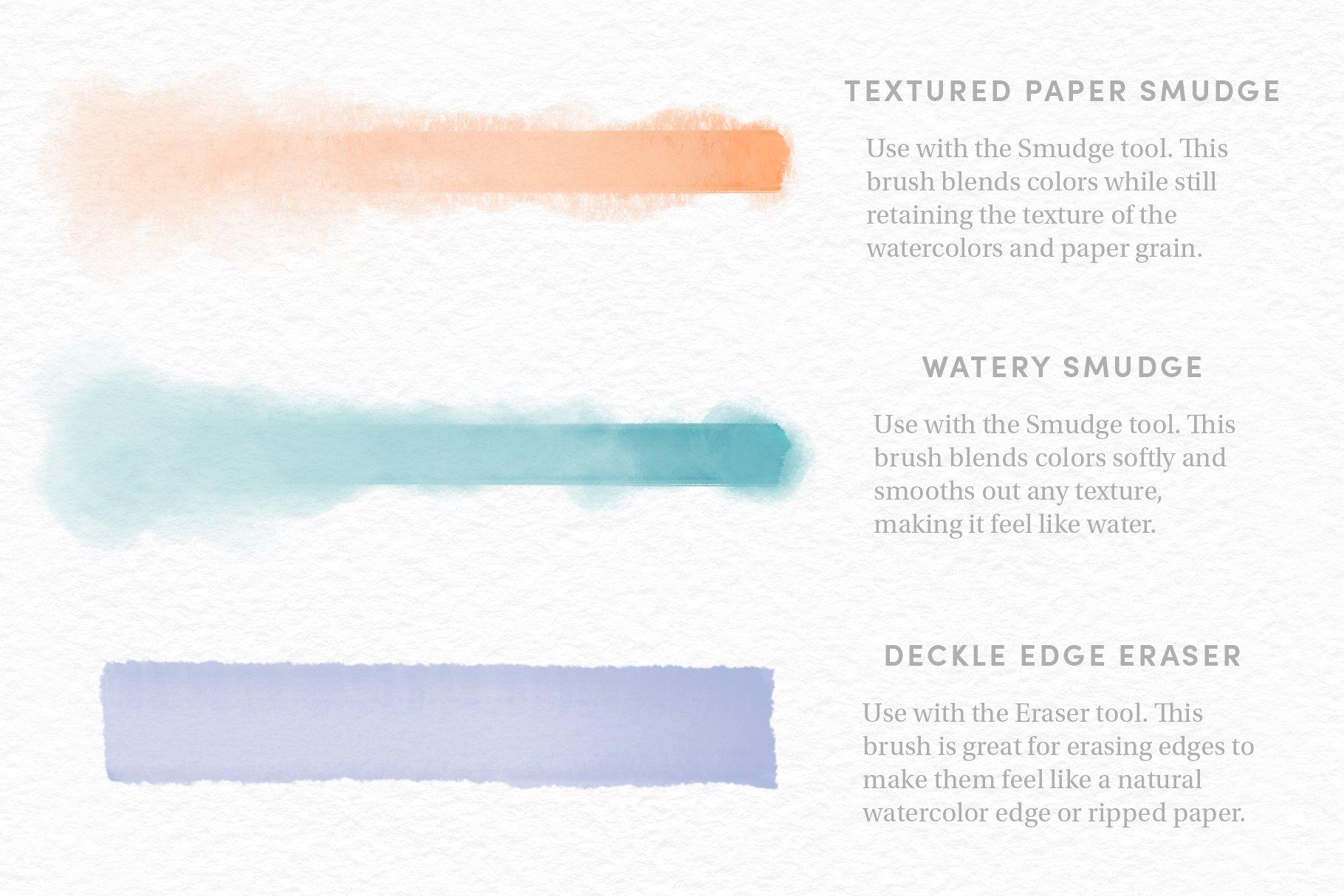 26款逼真水彩绘画纹理效果Procreate笔刷 Watercolor Kit – Procreate Brushes插图(9)