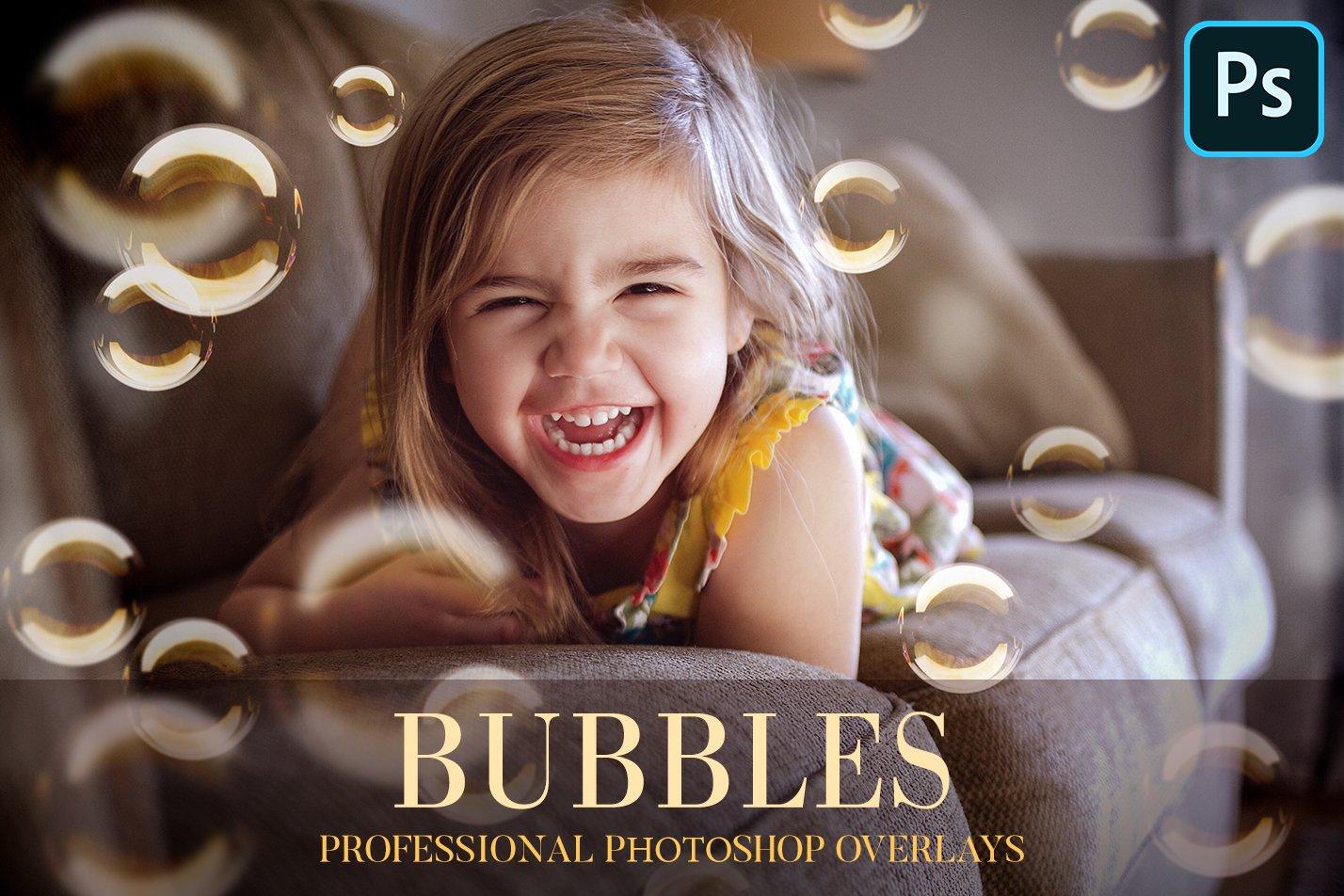 20个高清气泡PS图层叠加背景图片素材 Bubbles Overlays Photoshop插图