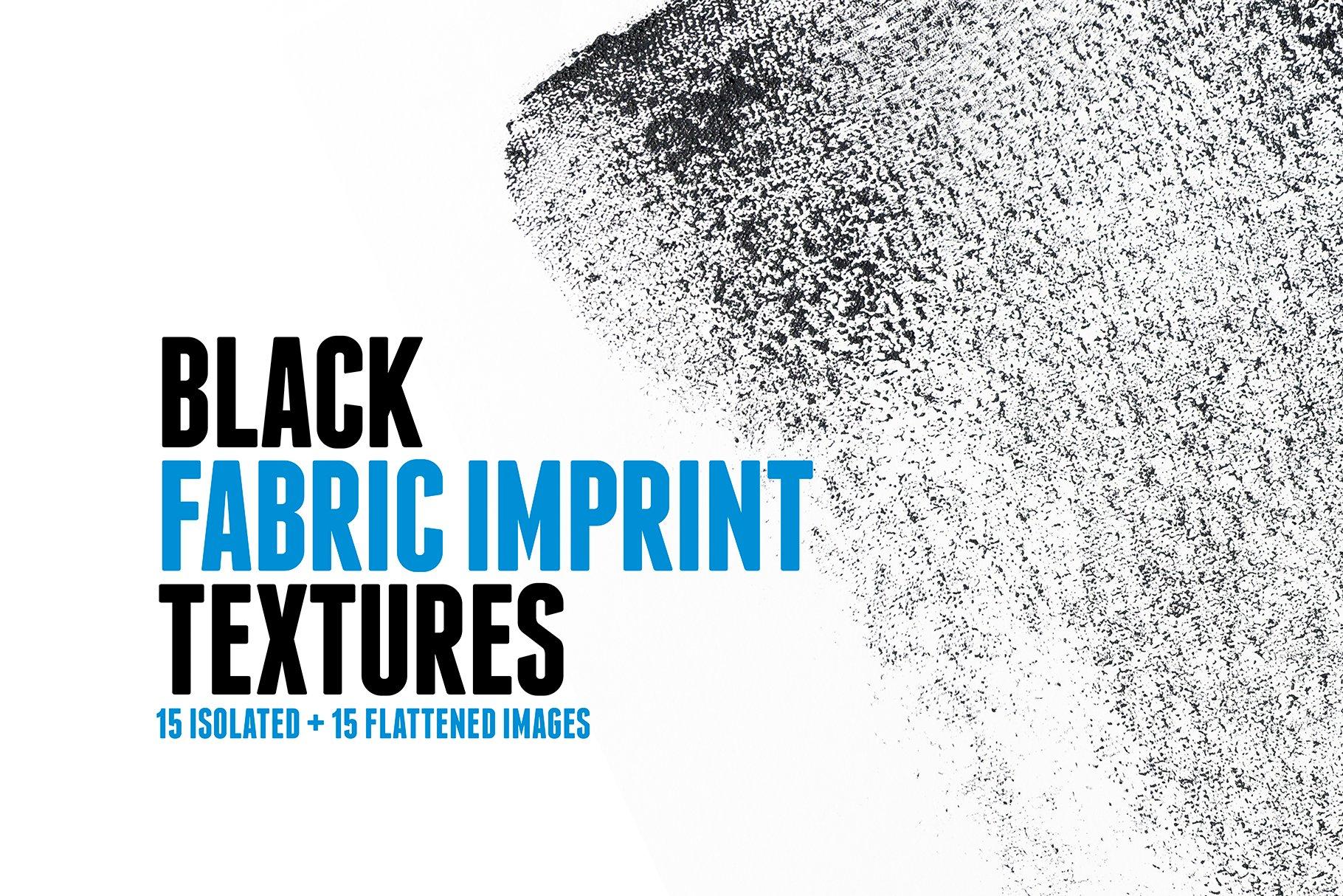 15款高清黑色织物压印效果背景PNG免抠图片素材 15 Black Fabric Imprint Textures插图