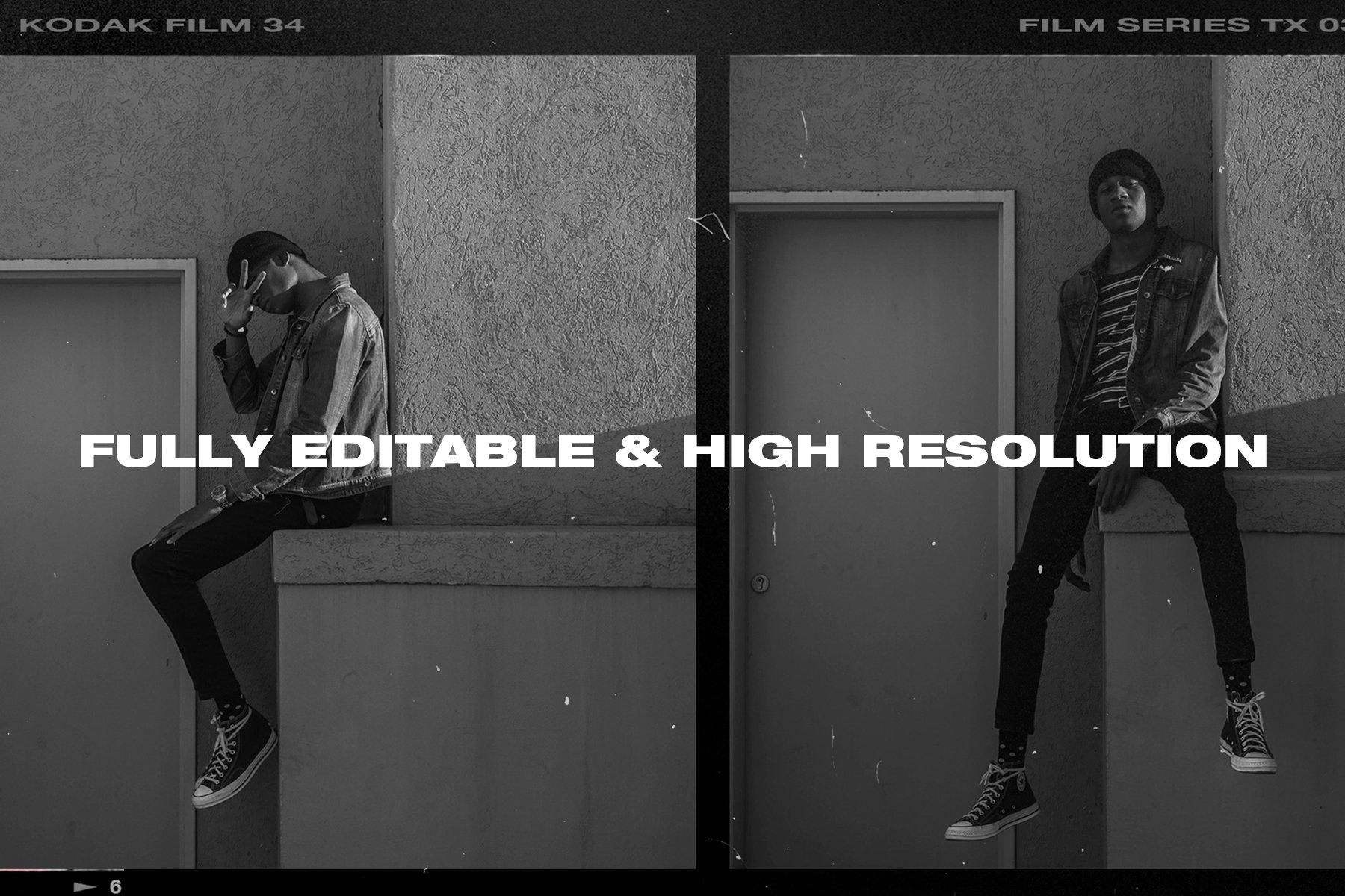 [淘宝购买] 复古做旧相机相片胶卷胶片边框图层叠加样机PS设计素材 High Quality Film Frames Creator插图(3)