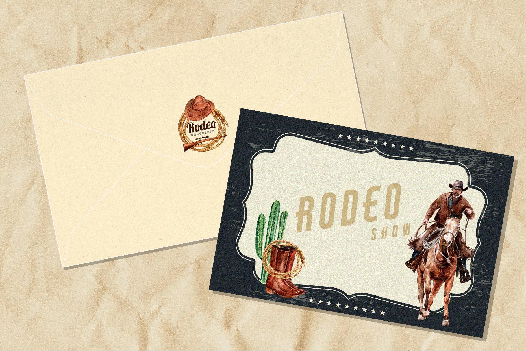 牛仔英雄元素水彩剪贴画PNG免抠图片素材 The Story of Cowboy Hero Watercolors Set插图(3)