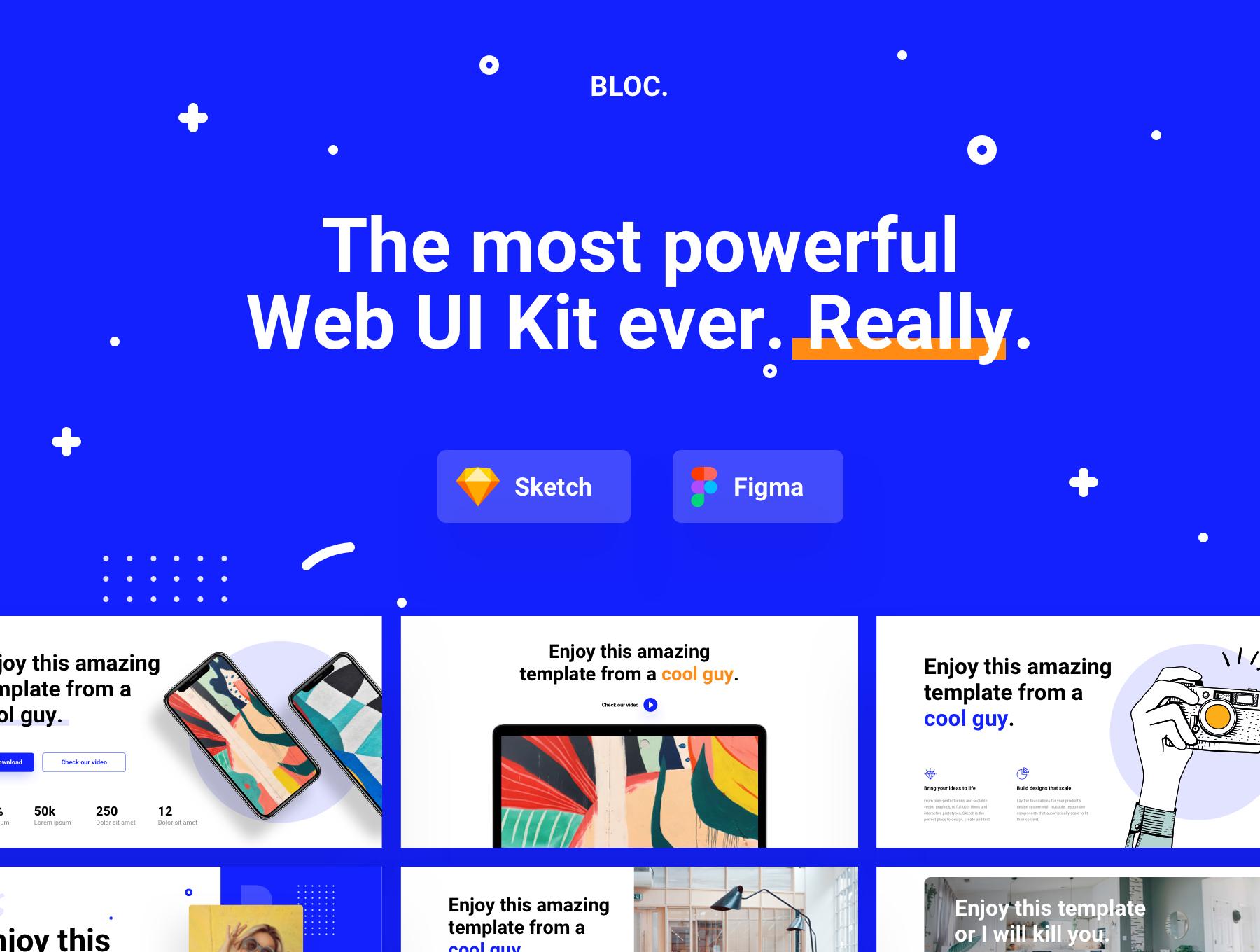 180+精美创意网站WEB UI设计套件 Bloc Web UI Kit插图