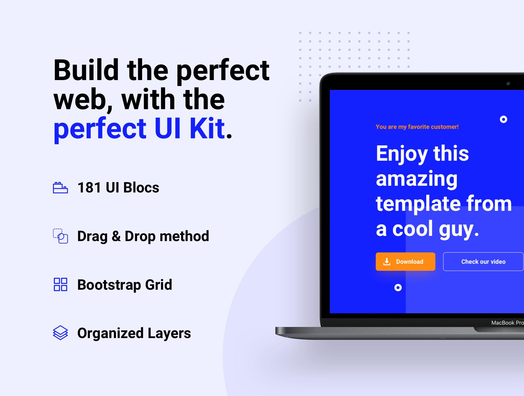180+精美创意网站WEB UI设计套件 Bloc Web UI Kit插图(4)