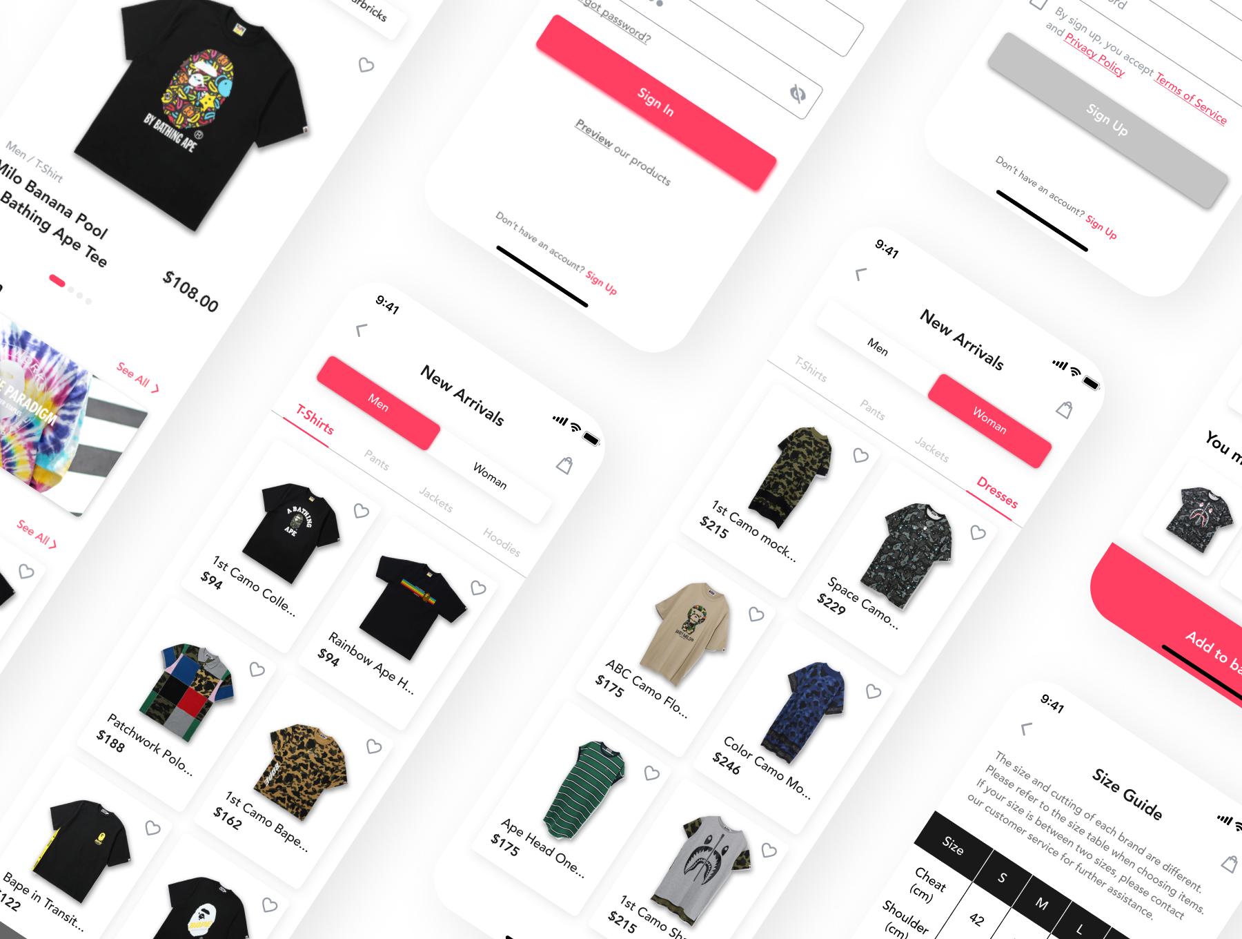 在线购物电子商务应用程序APP UI套件FIG模板 HypeBeast – E-commerce App UI Kit插图(6)