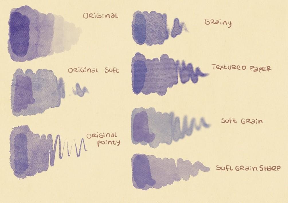 水彩效果Procreate笔刷下载 Procreate Watercolor Brushes插图(1)