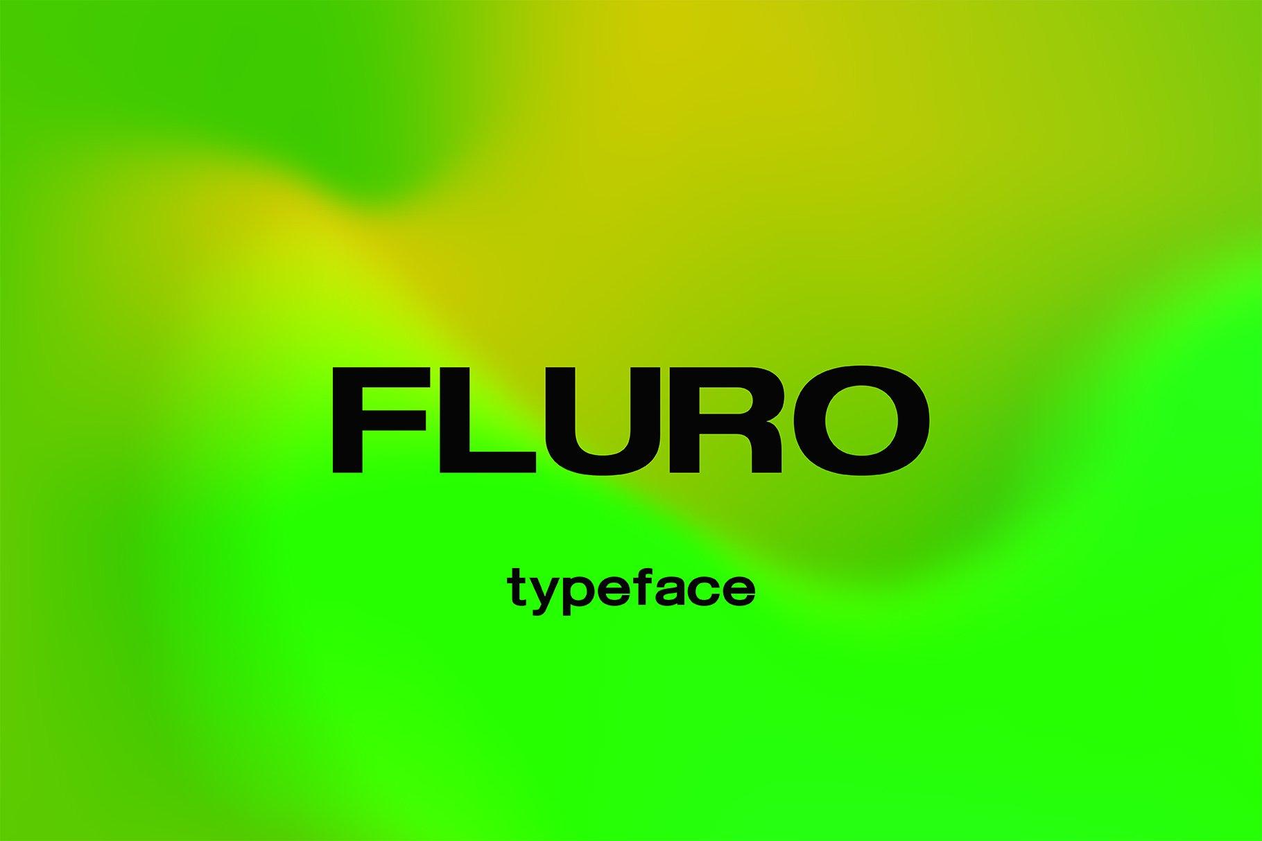 现代简约无衬线英文字体下载 FLURO Typeface插图