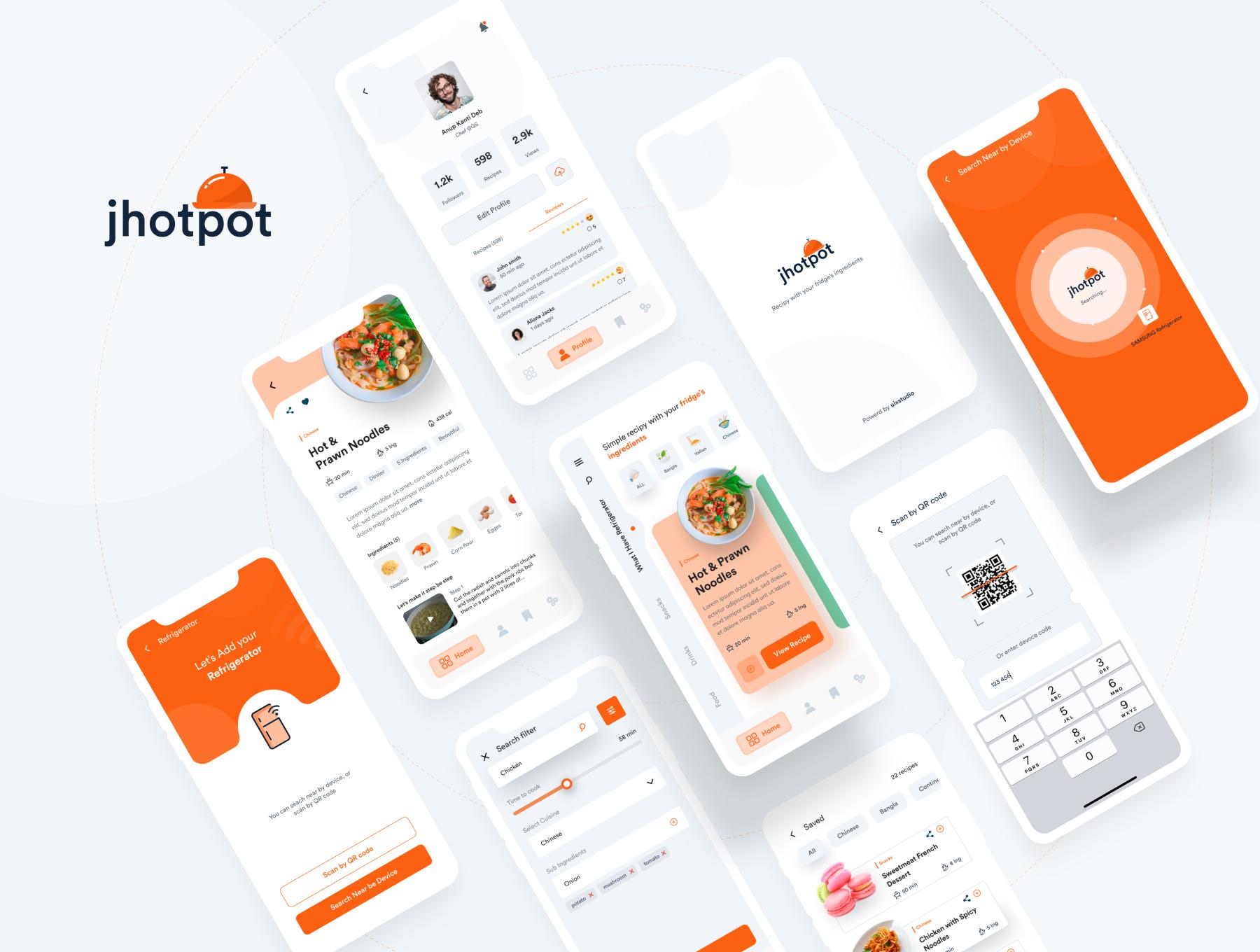 极简食谱美食APP应用程序设计UI套件 Jhotpot UI kit插图(3)
