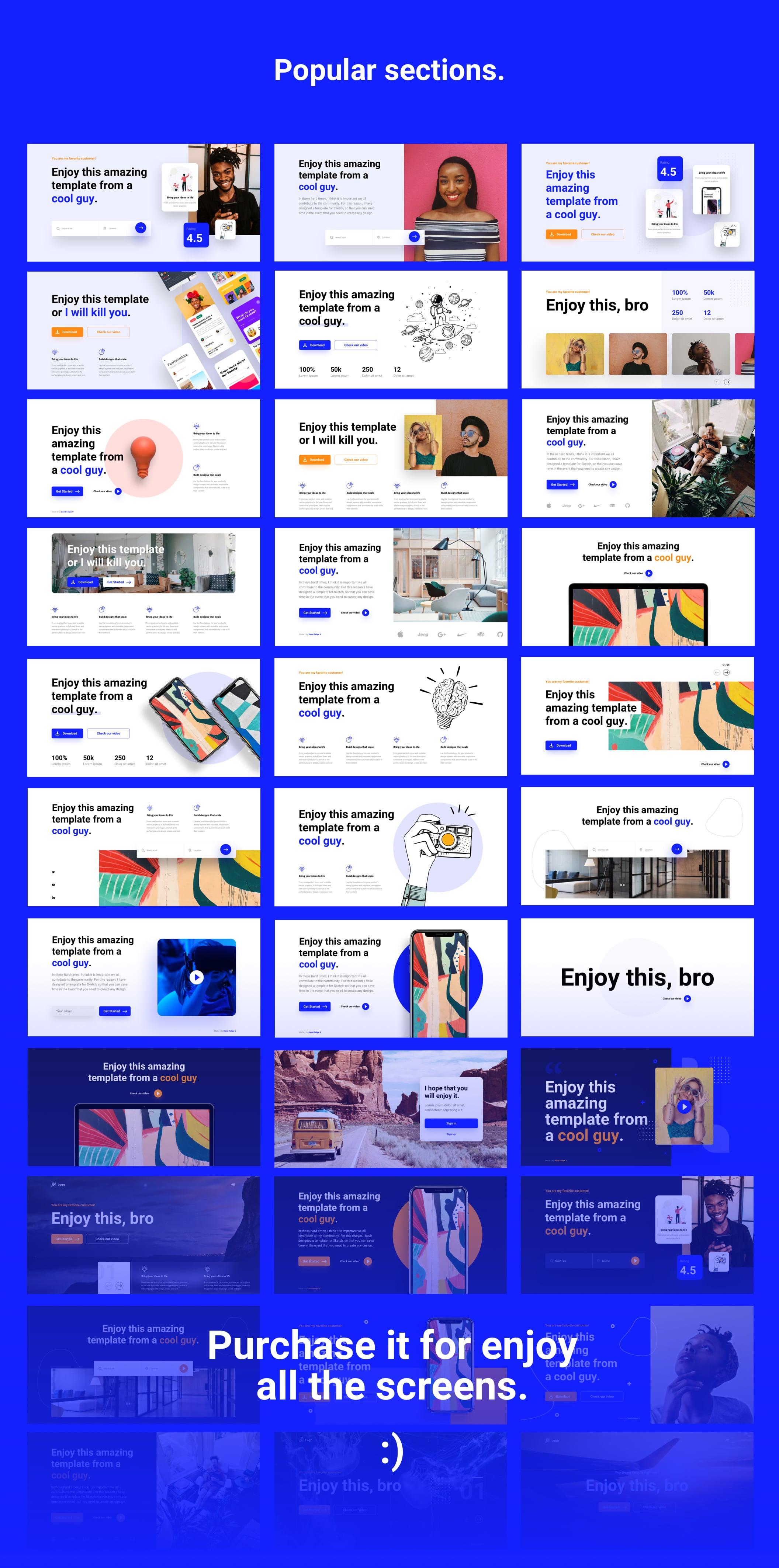 180+精美创意网站WEB UI设计套件 Bloc Web UI Kit插图(7)