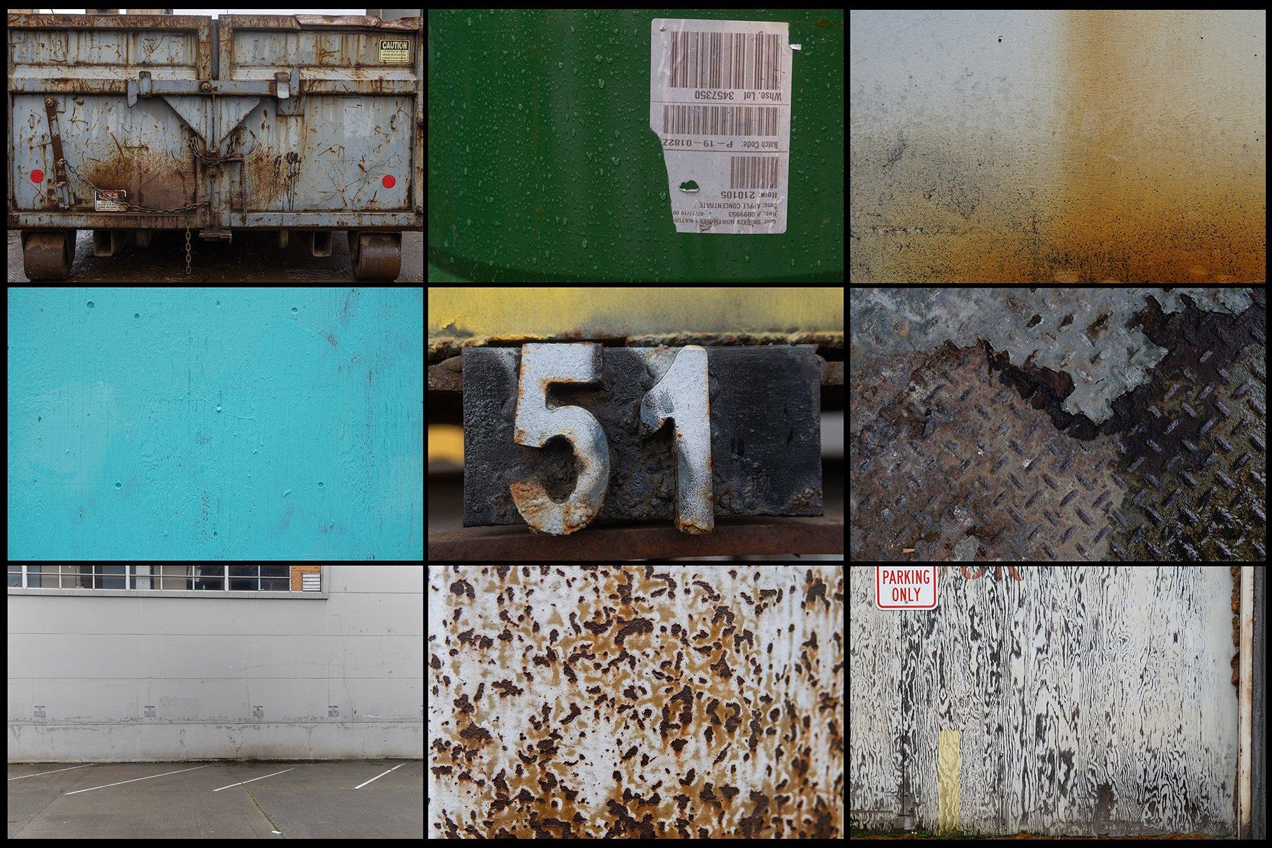 280多款高清锈迹划痕破裂污渍混凝土城市摄影图片背景素材 280 Urban Textures插图(1)
