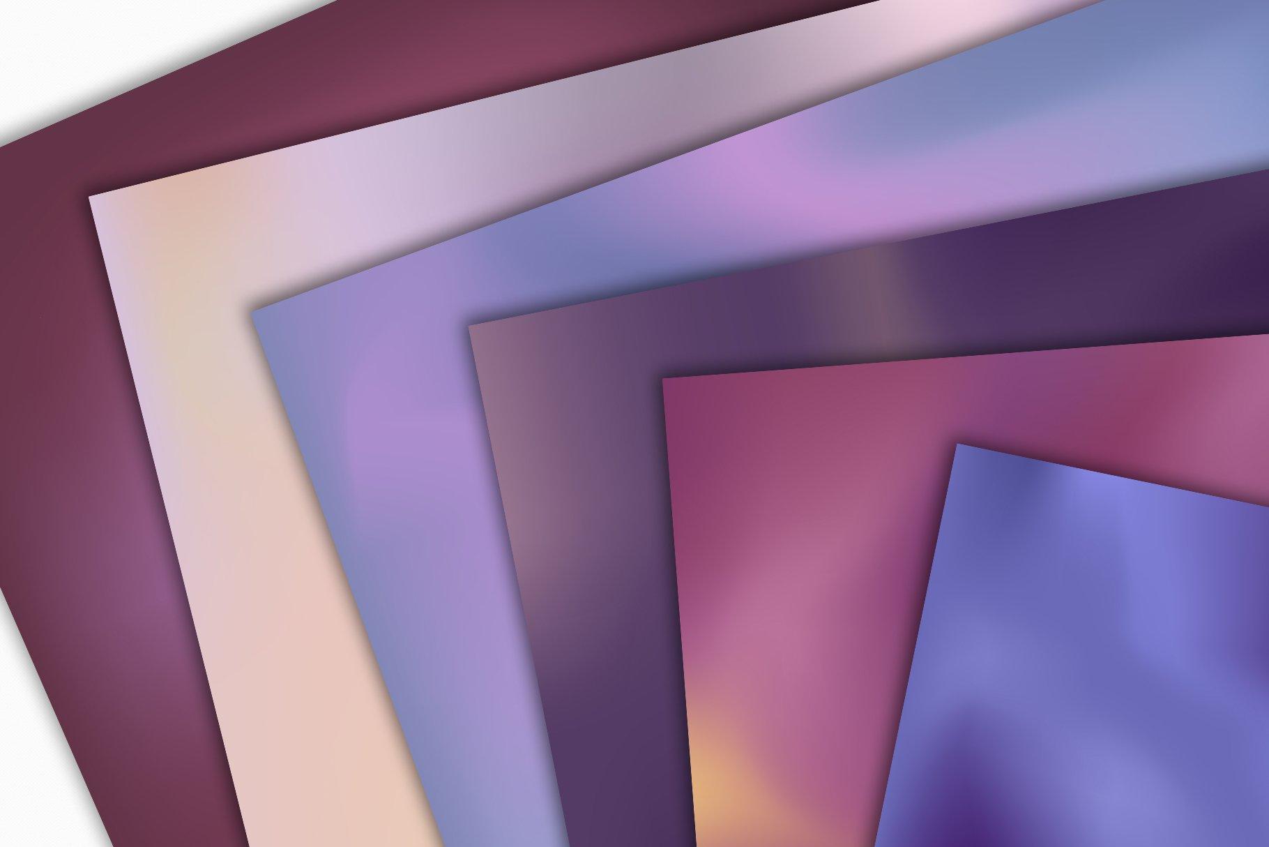 抽象紫色海军蓝绿色调丙烯酸油漆笔刷背景纹理图片素材 Brushstroke Textures Collection插图(8)