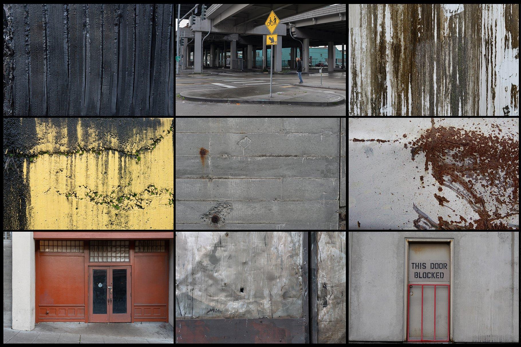280多款高清锈迹划痕破裂污渍混凝土城市摄影图片背景素材 280 Urban Textures插图(2)