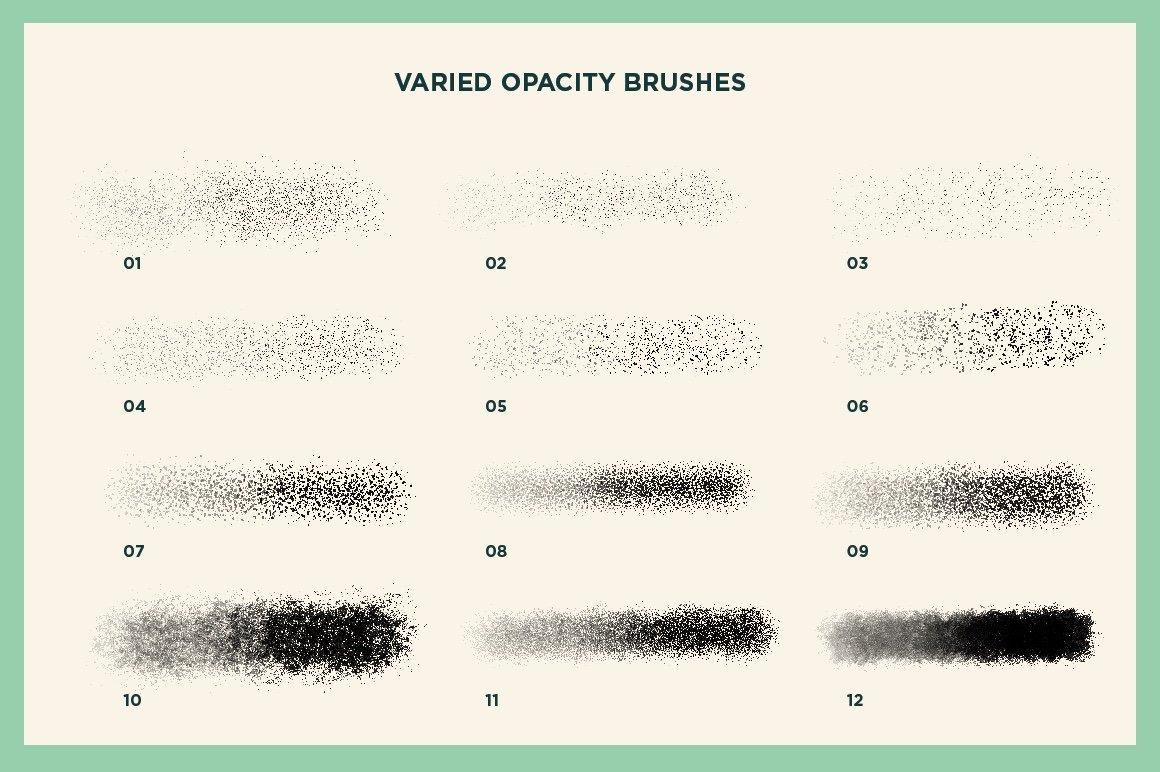 60款水粉粉笔颗粒绘画画笔Procreate笔刷 Gouache Shader Brushes For Procreate插图(14)