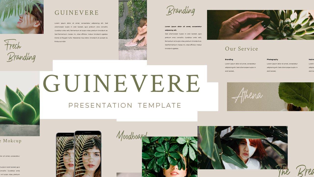 时尚品牌摄影作品集营销PPT幻灯片设计模板 Guinevere Presentation Template插图