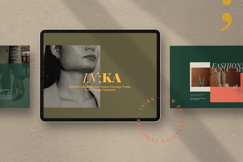 时尚创意服装摄影作品集幻灯片设计模板 Iconic – Fashion Lookbook PowerPoint插图(1)