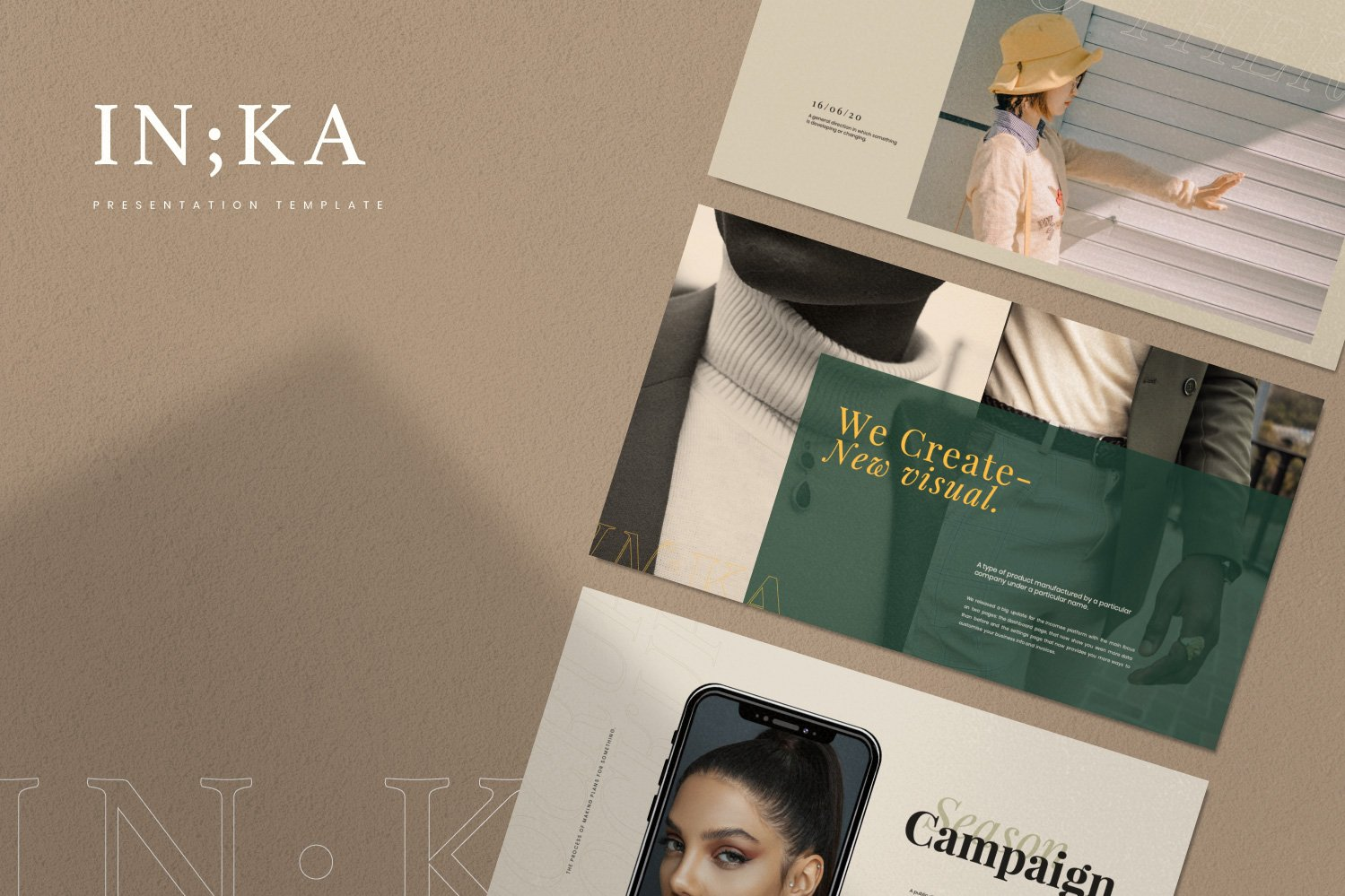 时尚创意服装摄影作品集幻灯片设计模板 Iconic – Fashion Lookbook PowerPoint插图(2)
