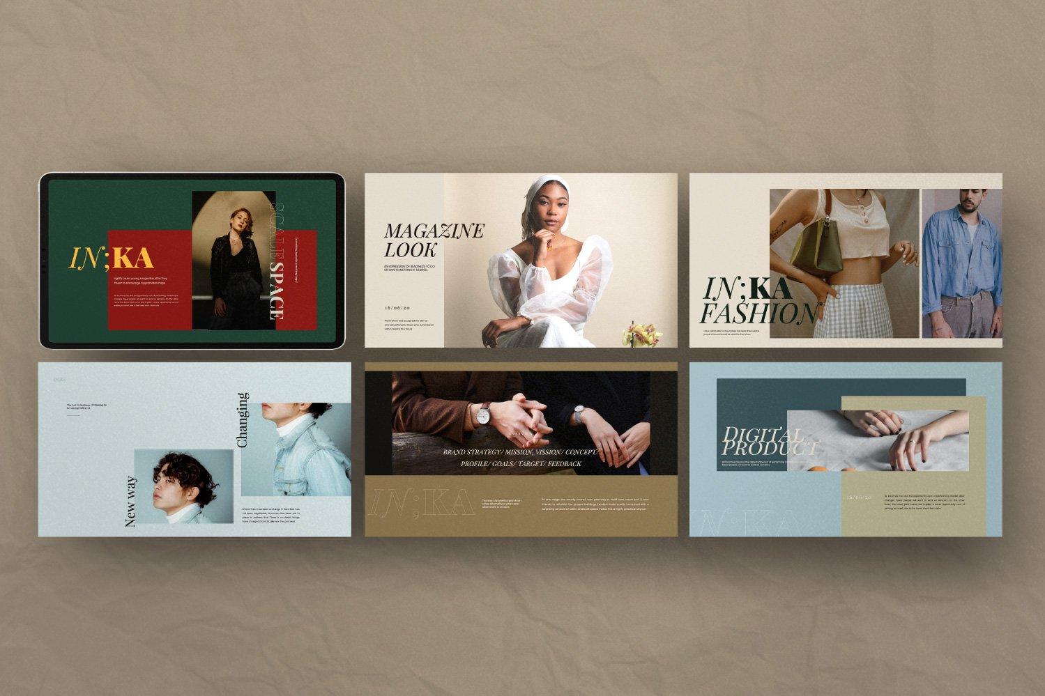 时尚创意服装摄影作品集幻灯片设计模板 Iconic – Fashion Lookbook PowerPoint插图(4)