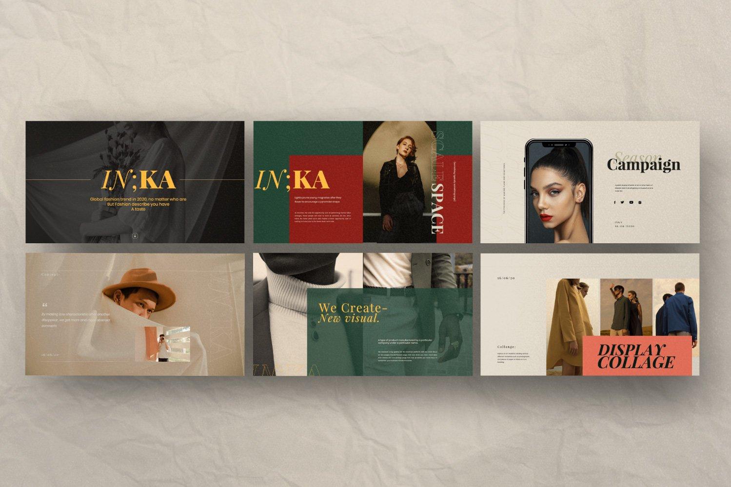 时尚创意服装摄影作品集幻灯片设计模板 Iconic – Fashion Lookbook PowerPoint插图(5)