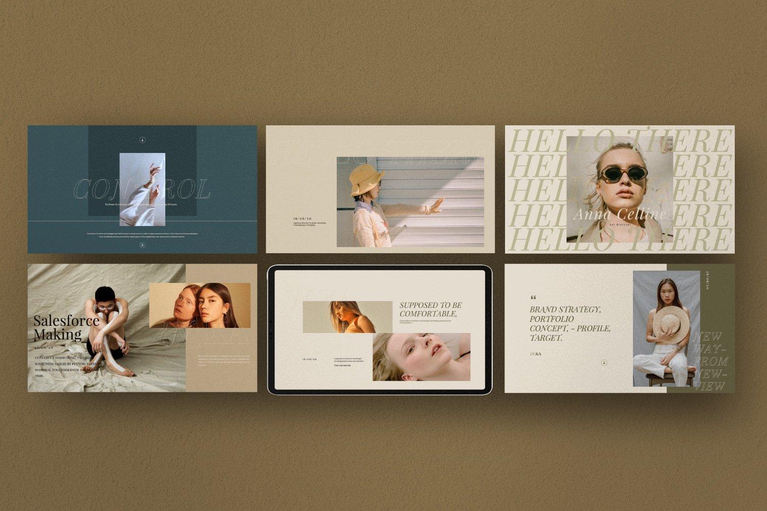 时尚创意服装摄影作品集幻灯片设计模板 Iconic – Fashion Lookbook PowerPoint插图(7)