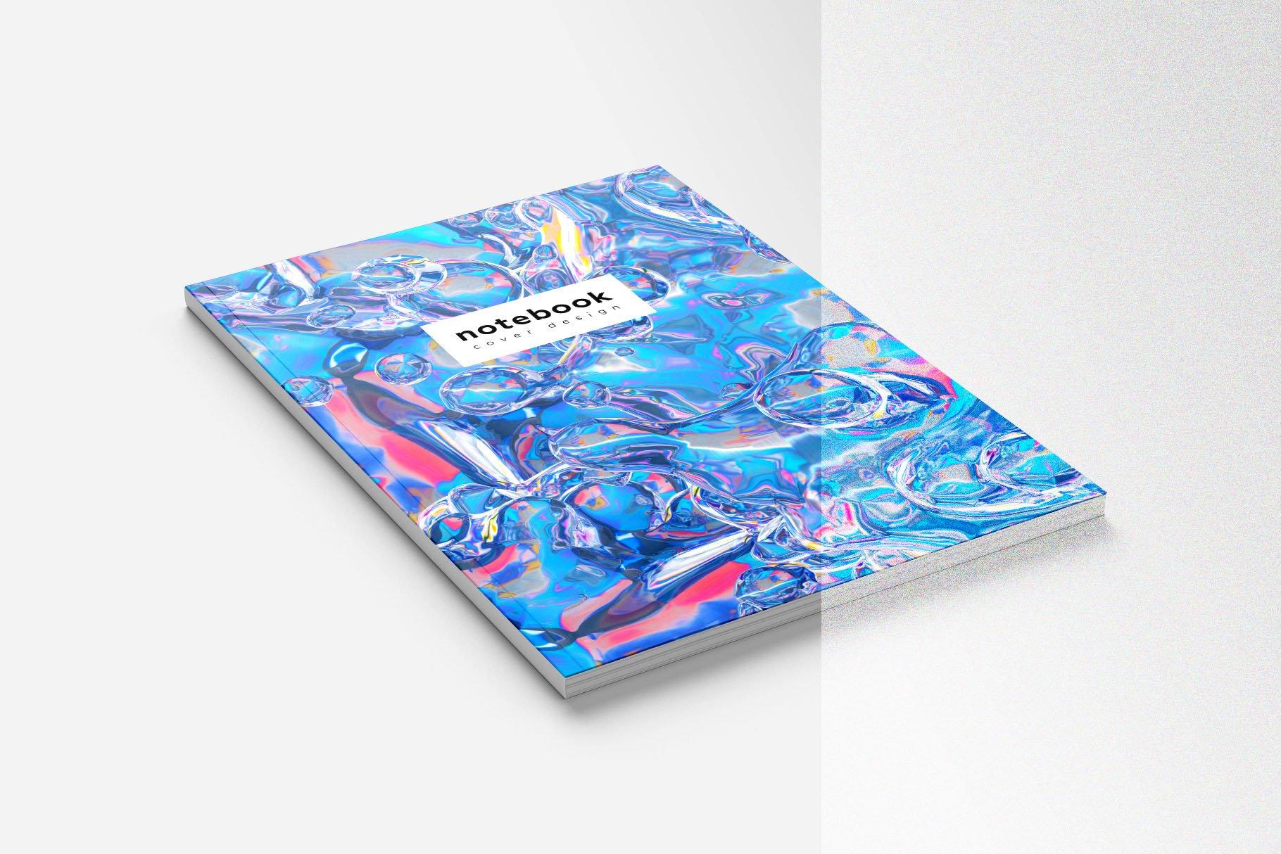 [淘宝购买] 23款抽象全息渐变不规则碎裂3D水滴流体图形设计素材 FOIL SHAPES Color Version插图(6)
