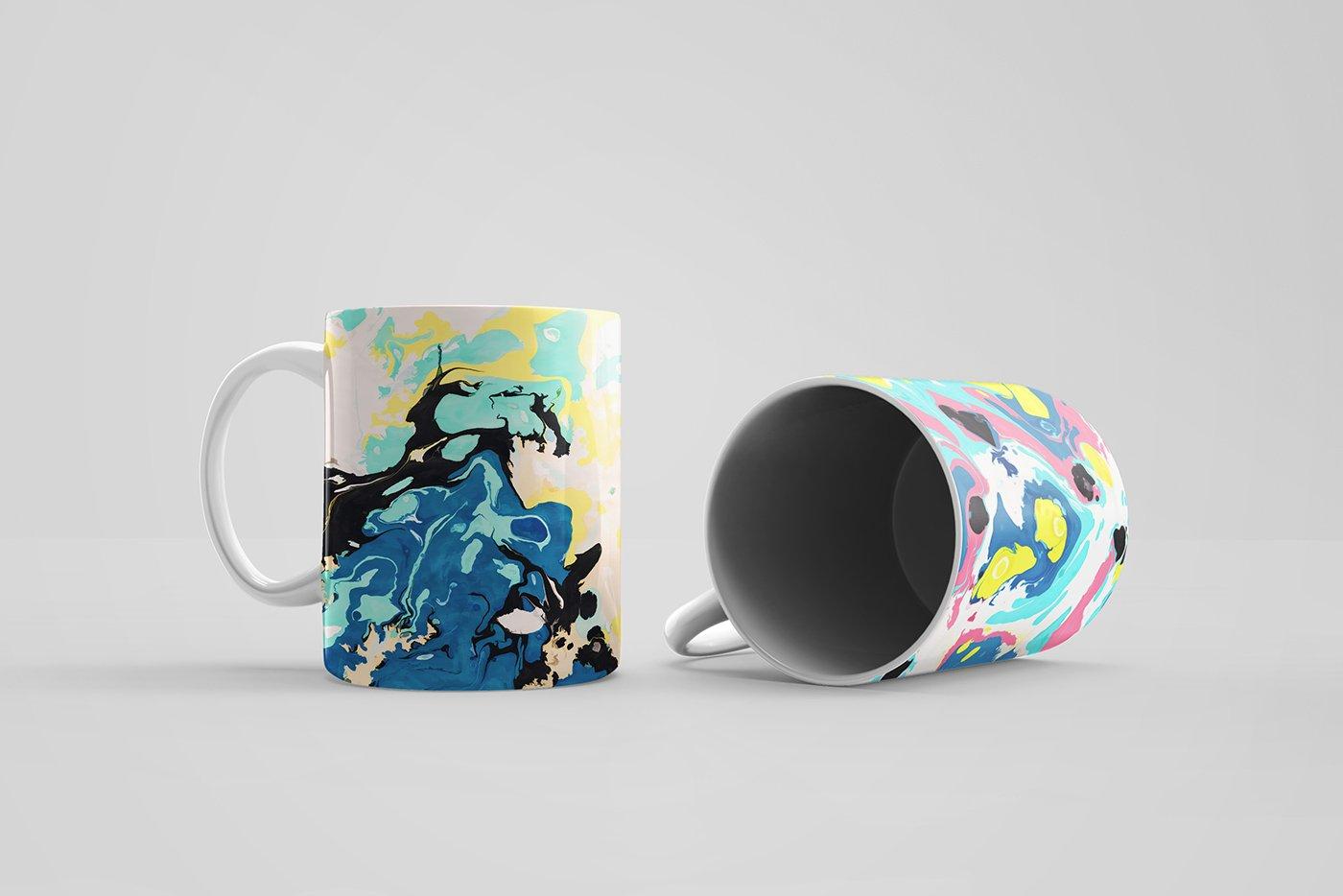 50款高清炫彩液体流动大理石装饰背景纹理图片素材 Marble Paint Textures & Backgrounds插图(1)