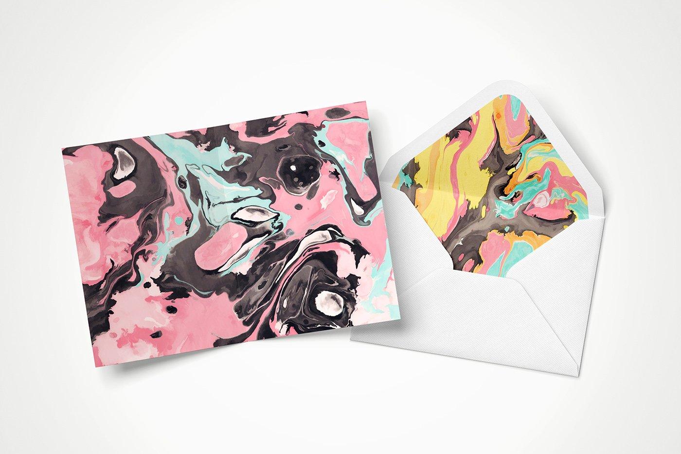 50款高清炫彩液体流动大理石装饰背景纹理图片素材 Marble Paint Textures & Backgrounds插图(2)