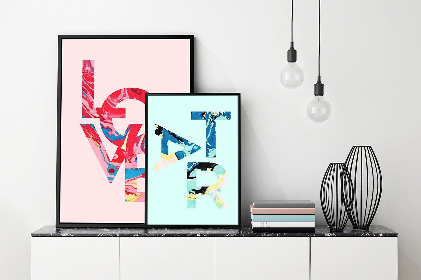 50款高清炫彩液体流动大理石装饰背景纹理图片素材 Marble Paint Textures & Backgrounds插图(3)