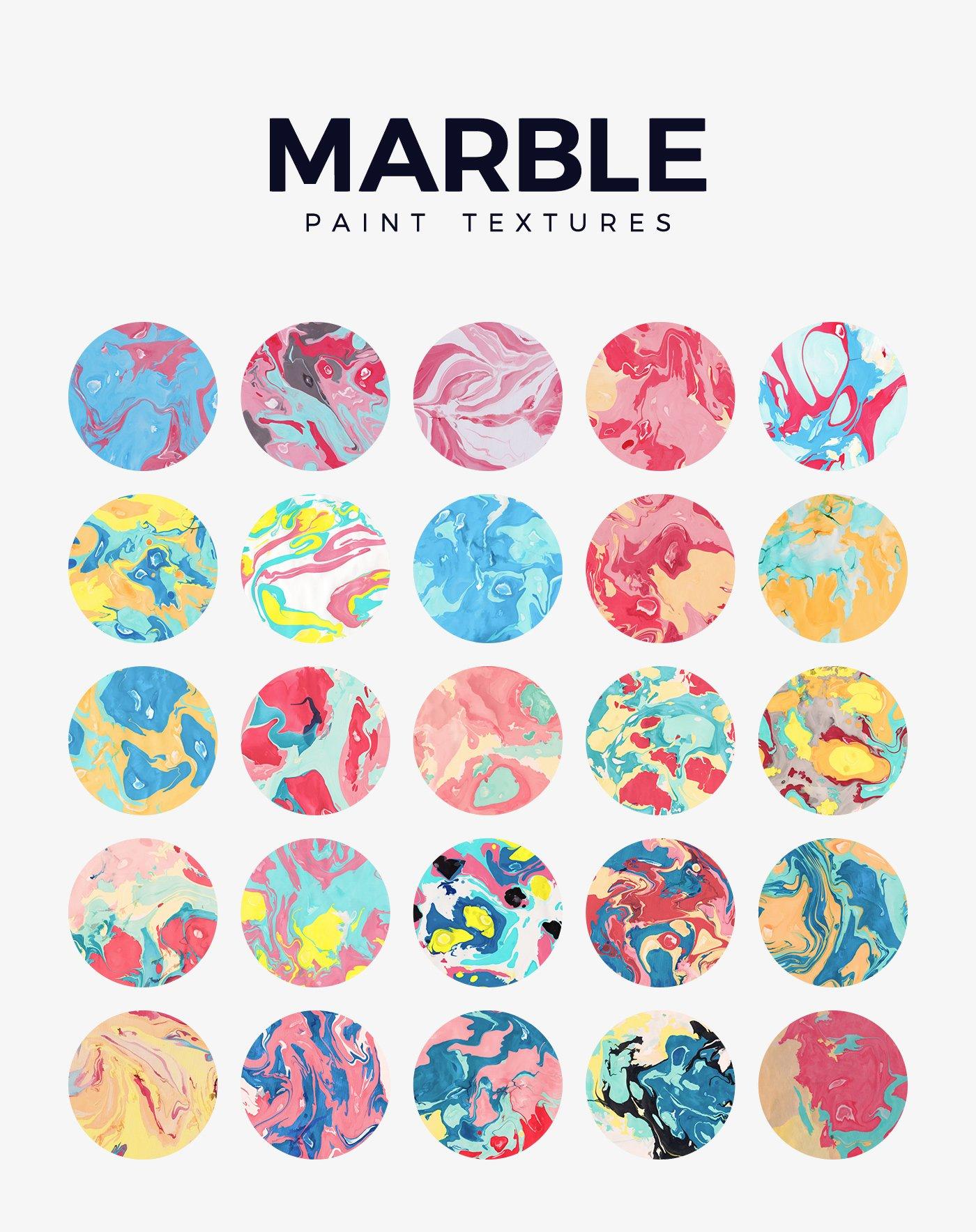 50款高清炫彩液体流动大理石装饰背景纹理图片素材 Marble Paint Textures & Backgrounds插图(4)