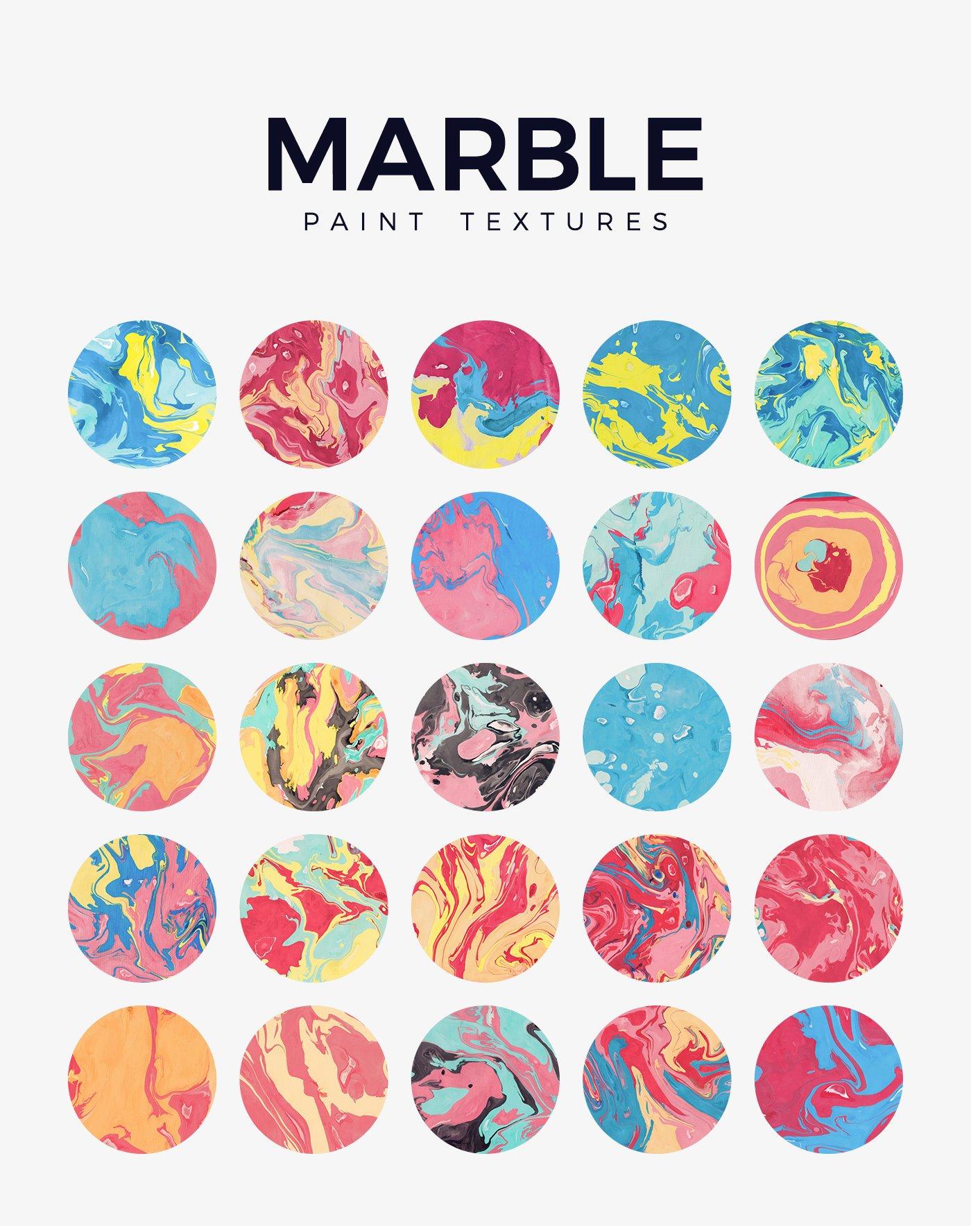 50款高清炫彩液体流动大理石装饰背景纹理图片素材 Marble Paint Textures & Backgrounds插图(5)