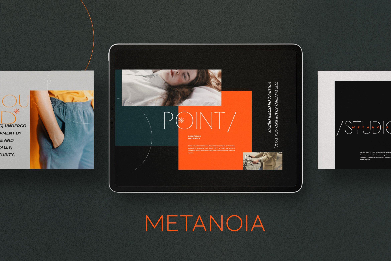 时尚潮流服装品牌摄影作品集幻灯片设计模板 Metanoia – Brand Fashion Powerpoint插图(3)