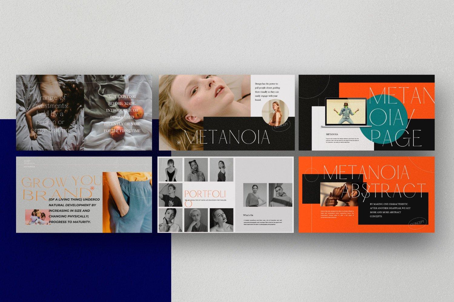 时尚潮流服装品牌摄影作品集幻灯片设计模板 Metanoia – Brand Fashion Powerpoint插图(7)