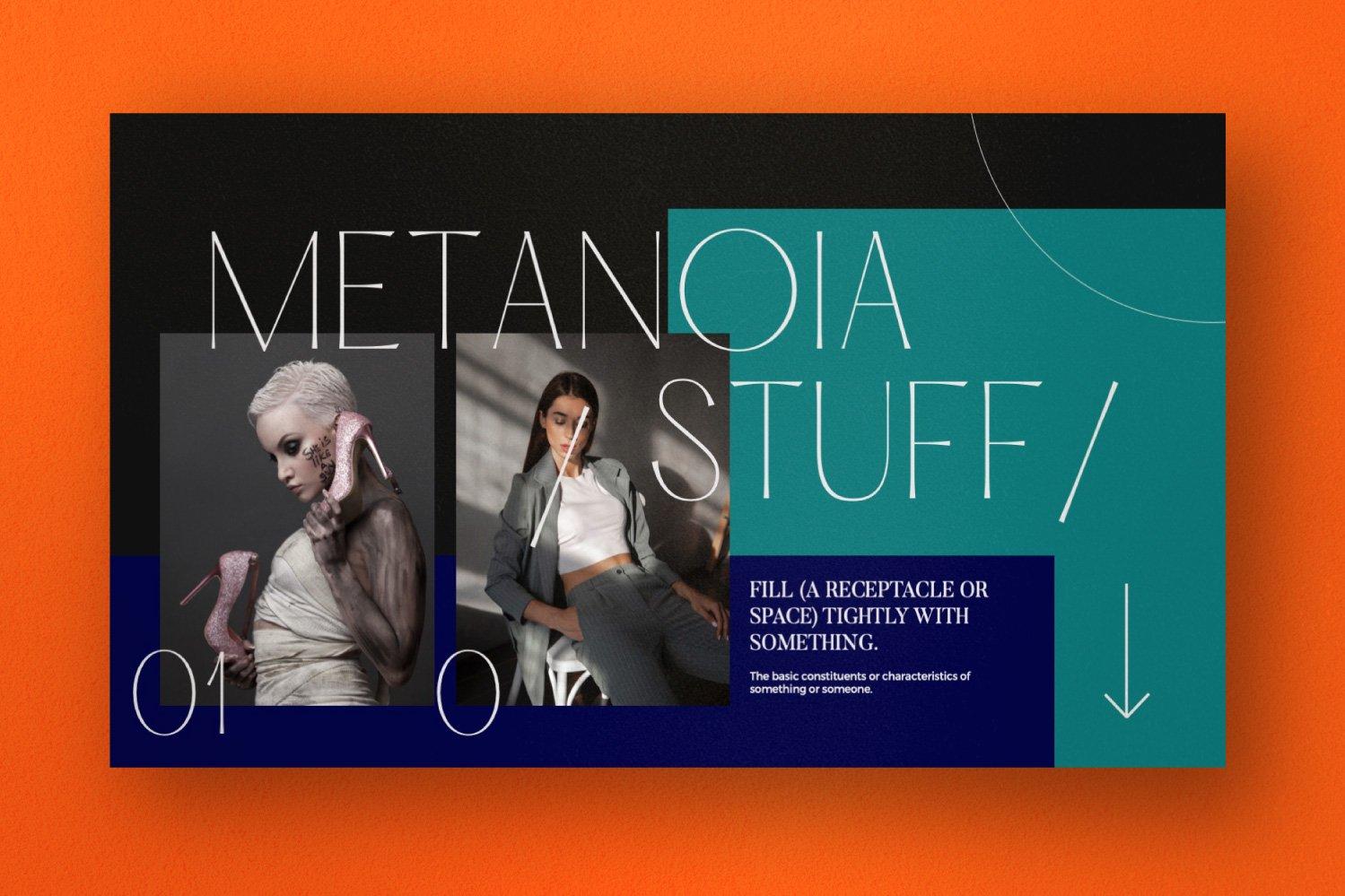 时尚潮流服装品牌摄影作品集幻灯片设计模板 Metanoia – Brand Fashion Powerpoint插图(9)