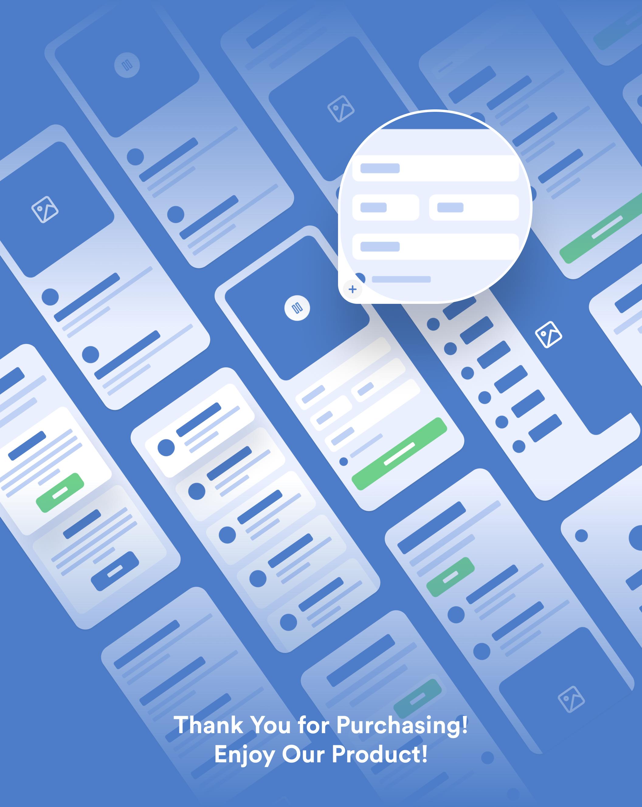 400多个应用程序APP设计线框流程图套件 TinyFrames – 2.0插图(9)