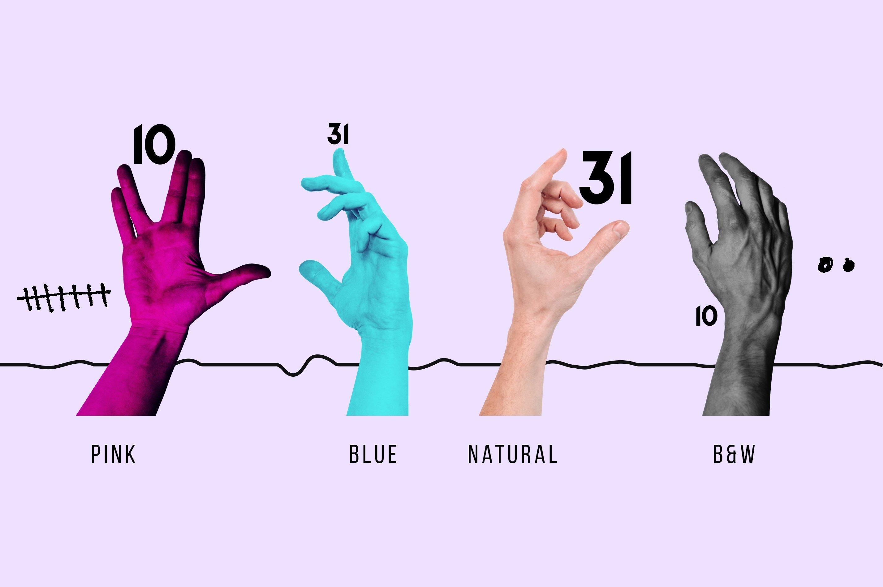 [淘宝购买] 抽象手绘矢量图形手势图片平面海报设计素材集合 Abstract Hands Pattern插图(2)