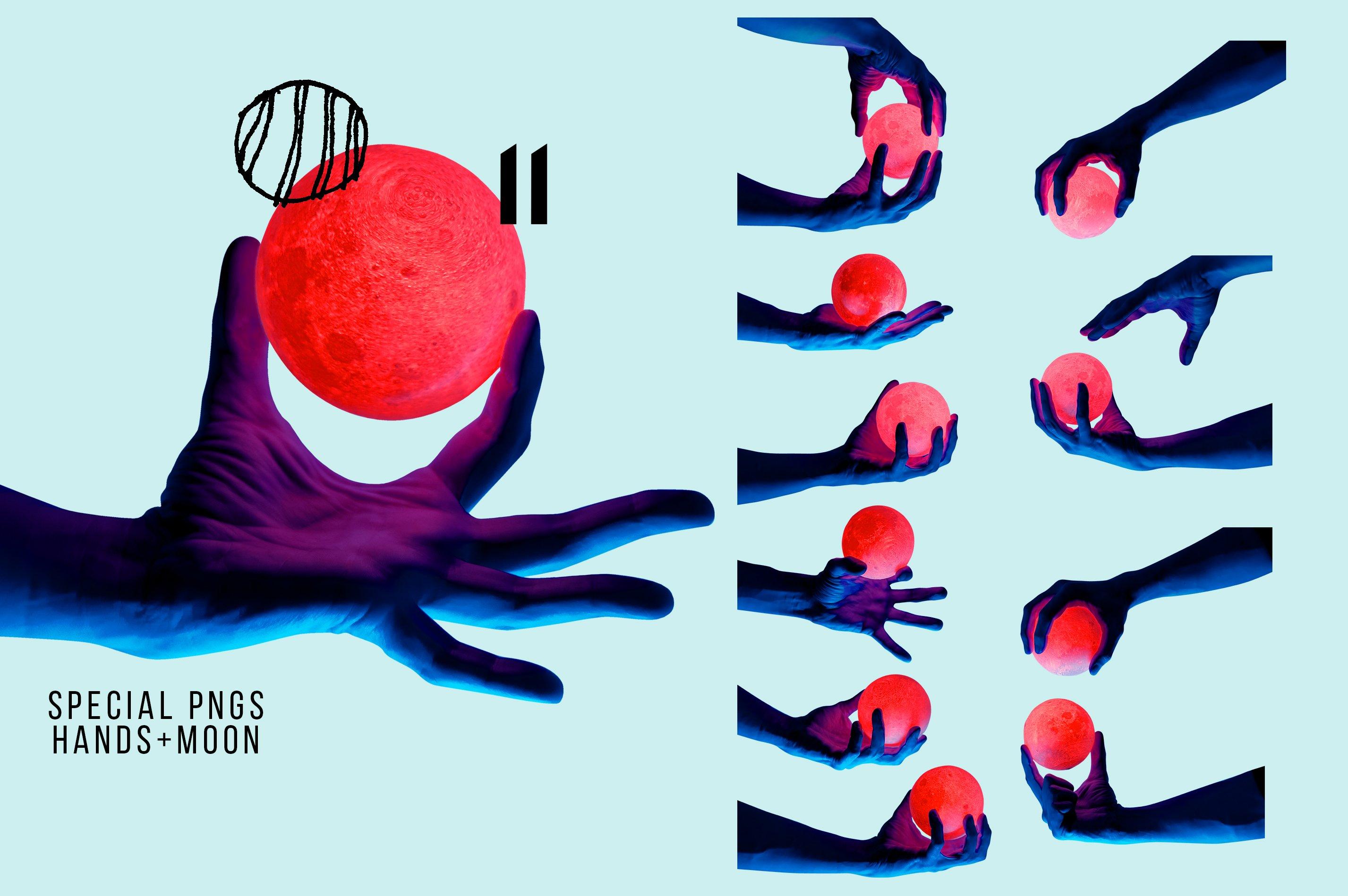 [淘宝购买] 抽象手绘矢量图形手势图片平面海报设计素材集合 Abstract Hands Pattern插图(3)