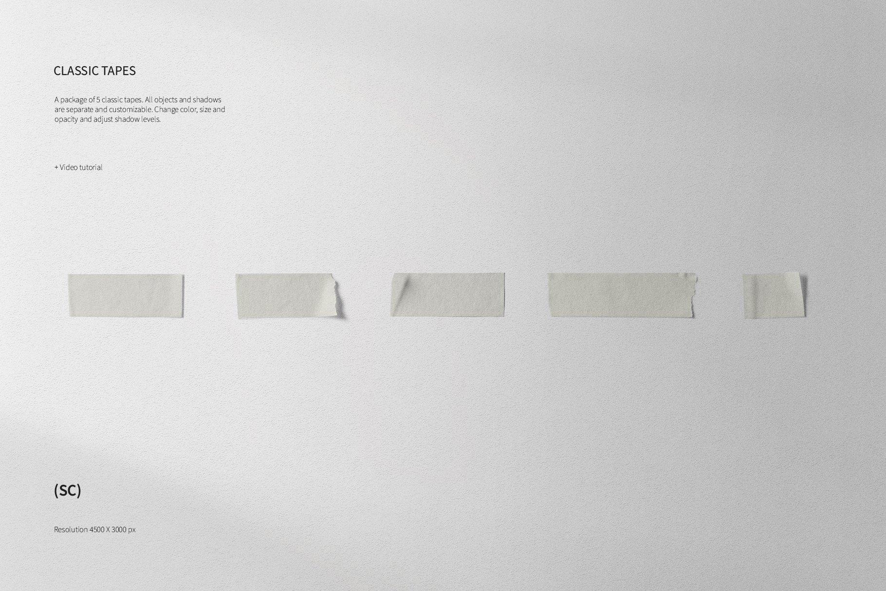 55款高清不干胶胶带贴纸PNG透明免抠图片素材 Tape Creator插图(3)